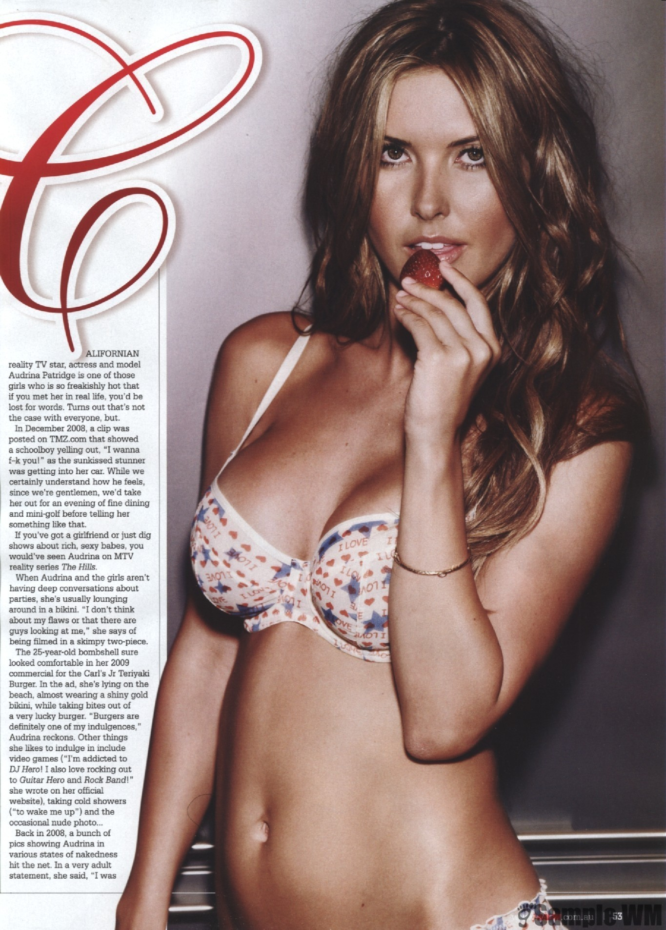 Audrina Patridge strawberries magazine