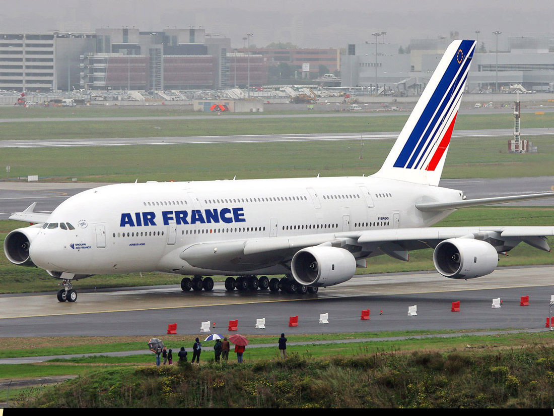 aviao air France high HD Wallpaper