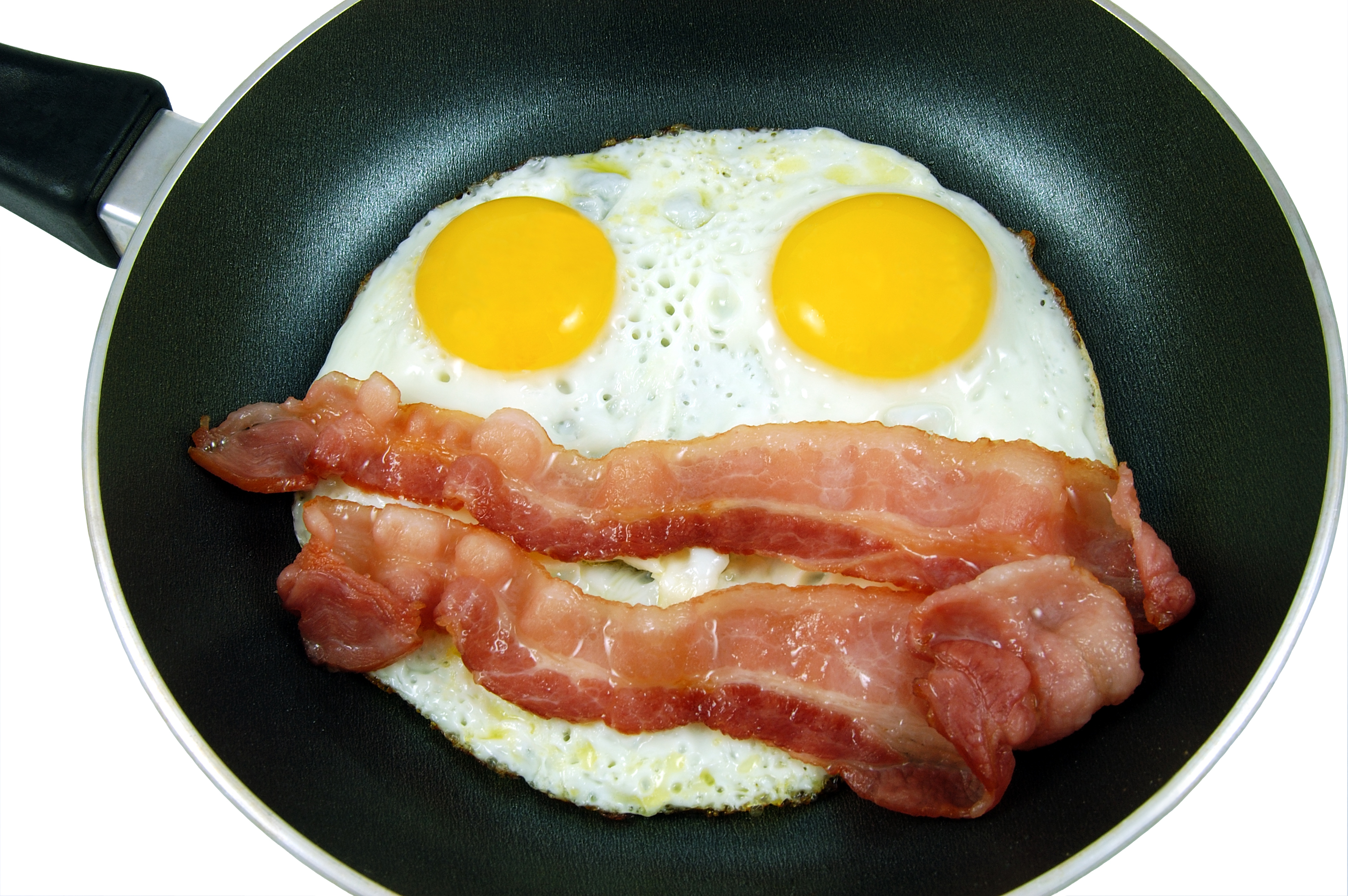 bacon egg omelets fried HD Wallpaper