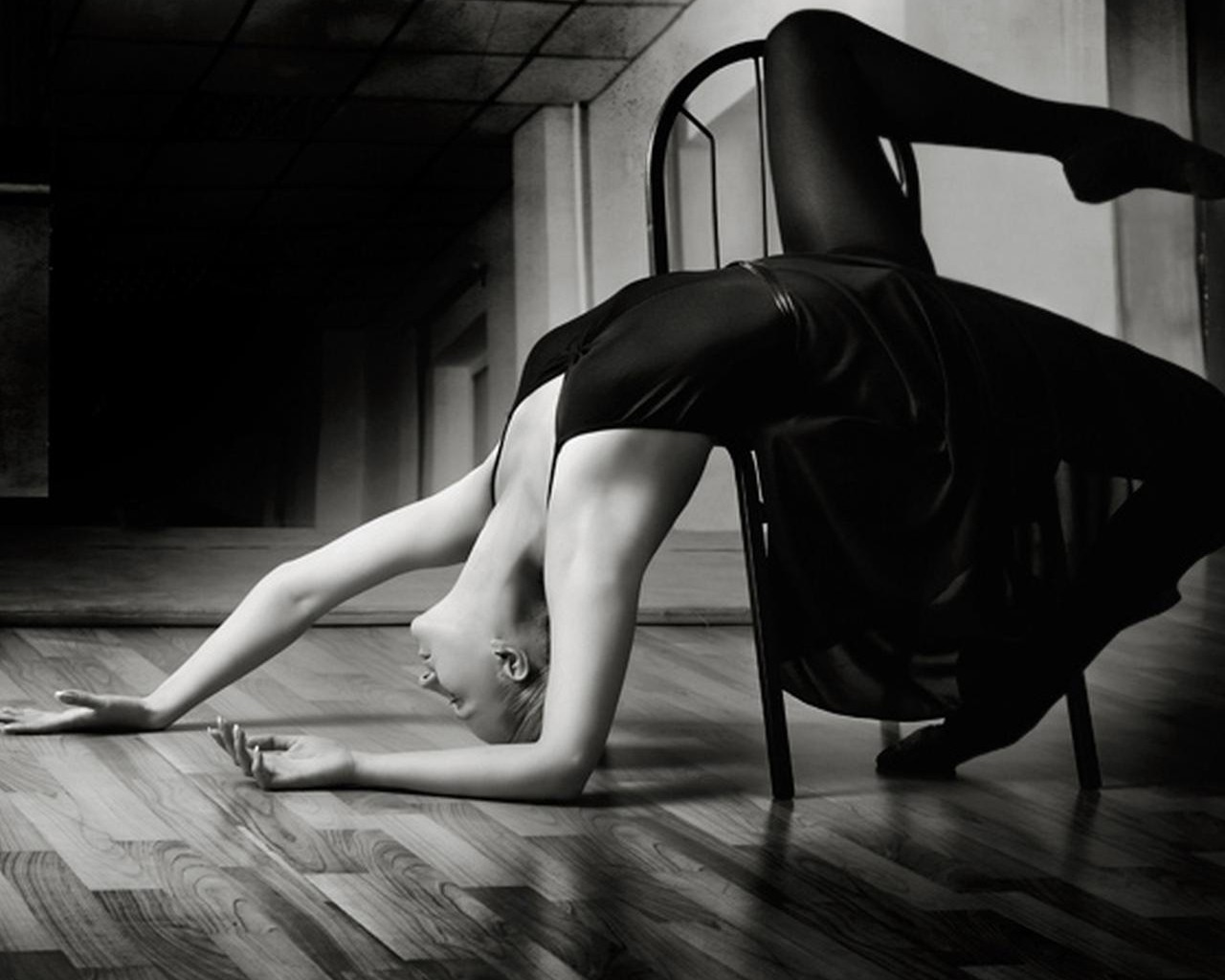 ballet ballerina monochrome HD Wallpaper