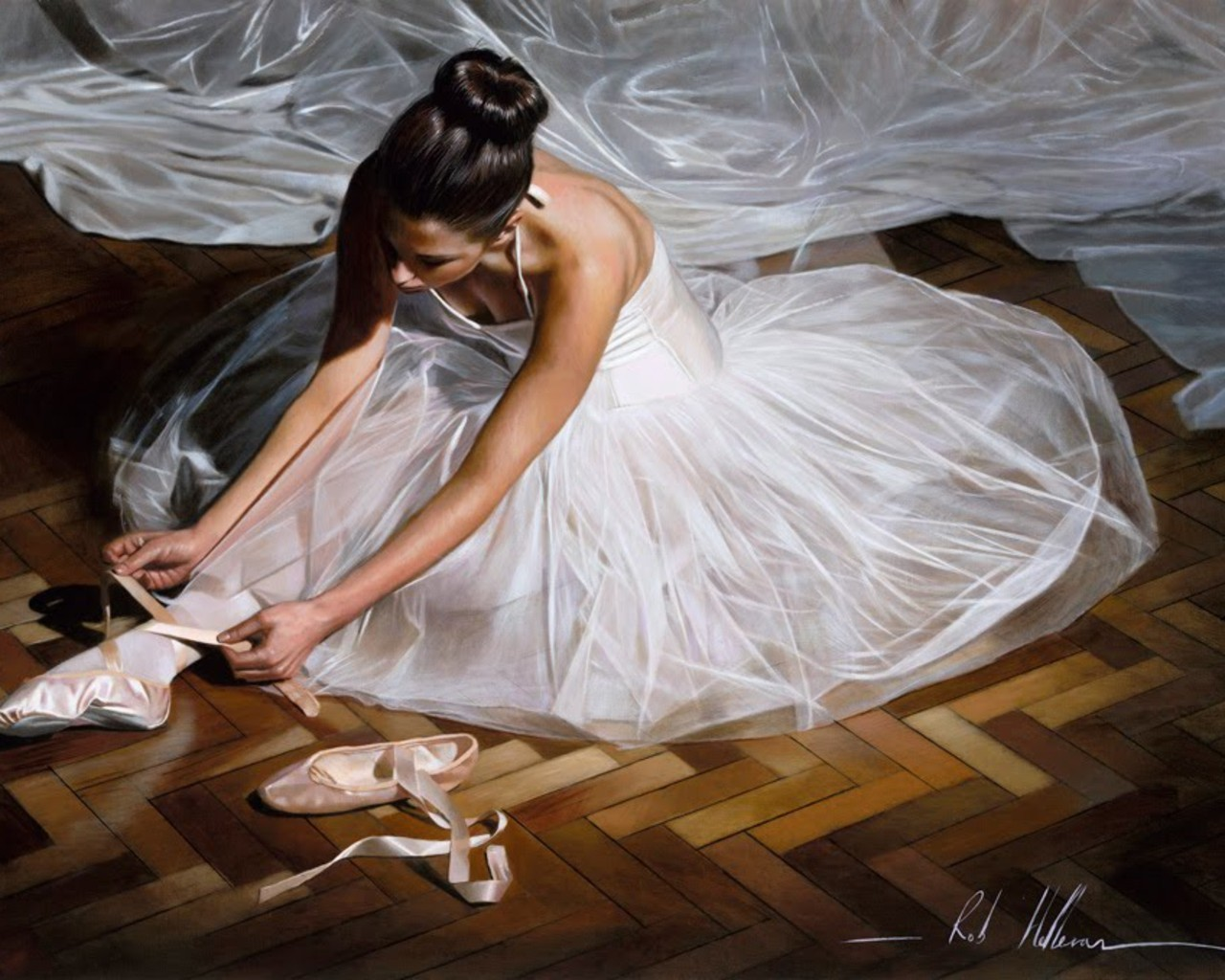 ballet dance ballet shoes HD Wallpaper
