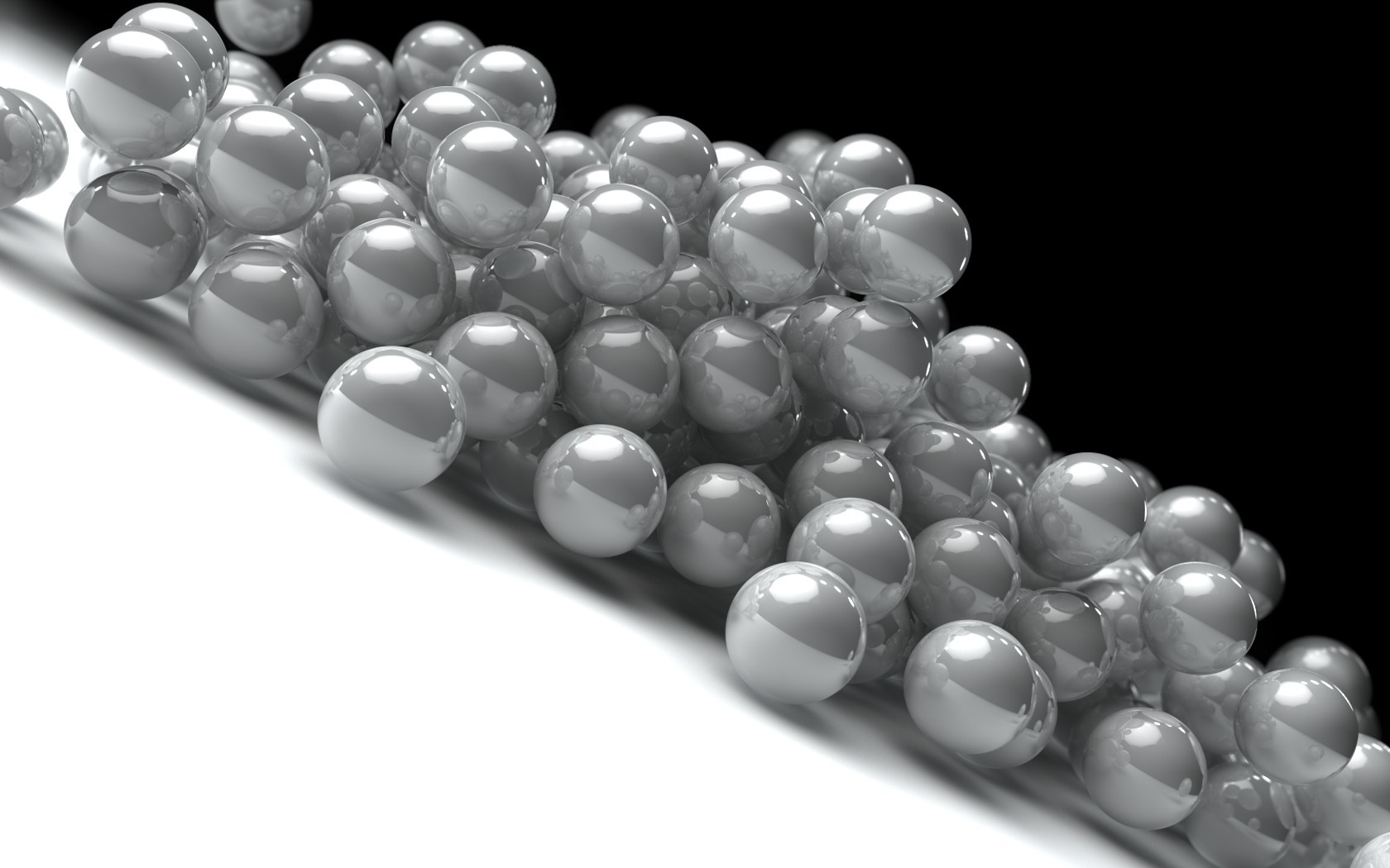balls deviantart Beads monochrome HD Wallpaper