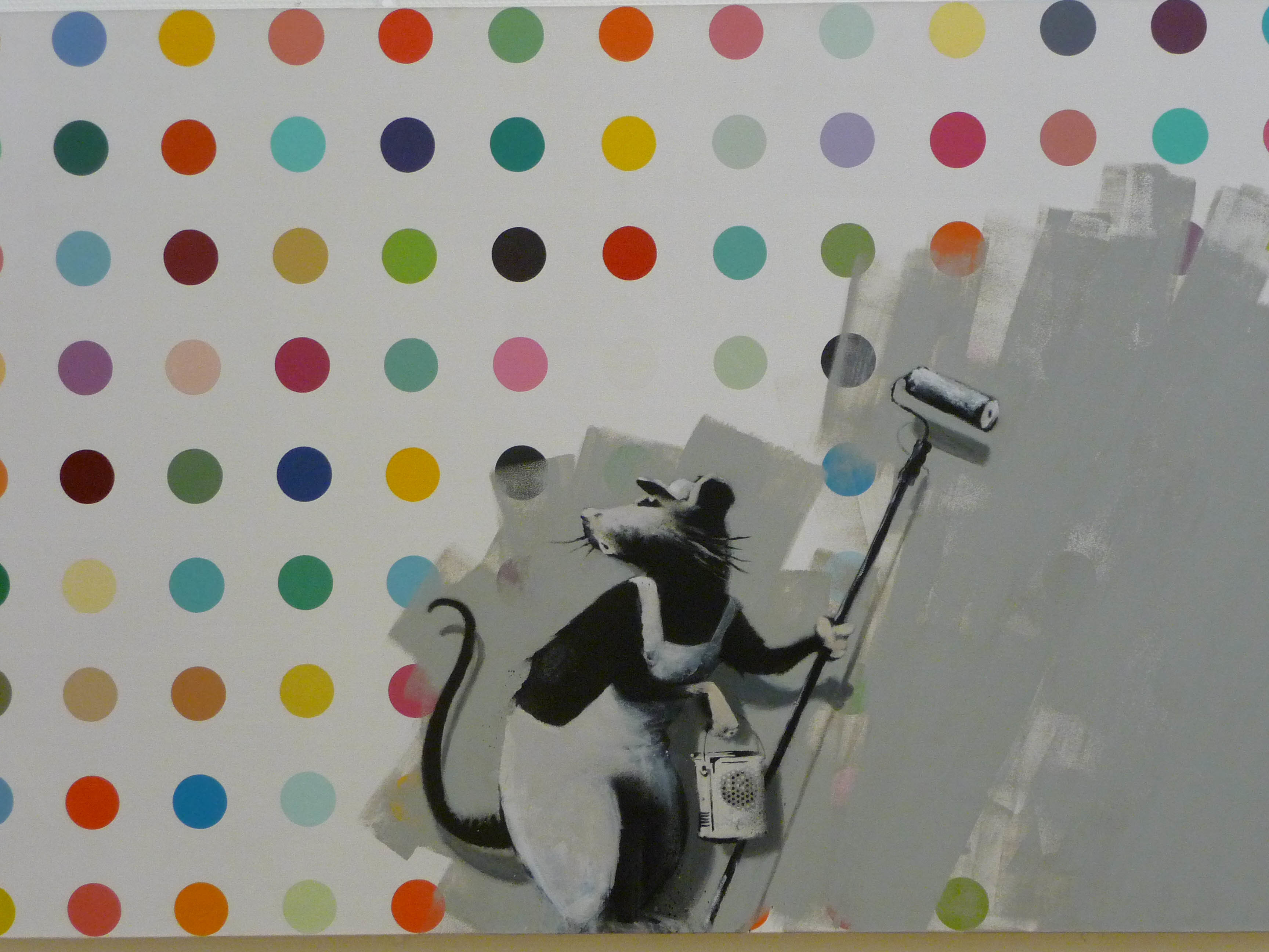 banksy does damien hirst HD Wallpaper