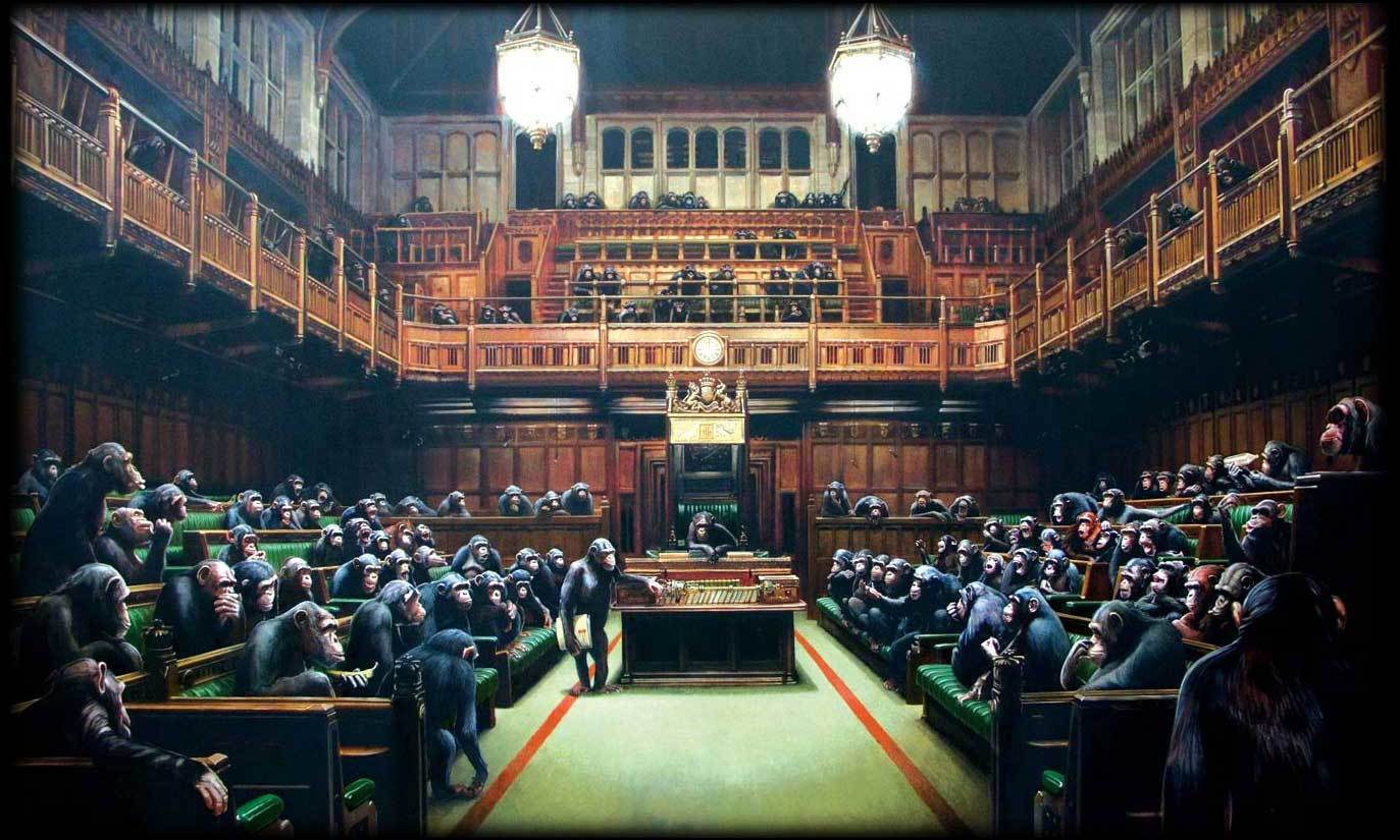 banksy parliament houses HD Wallpaper