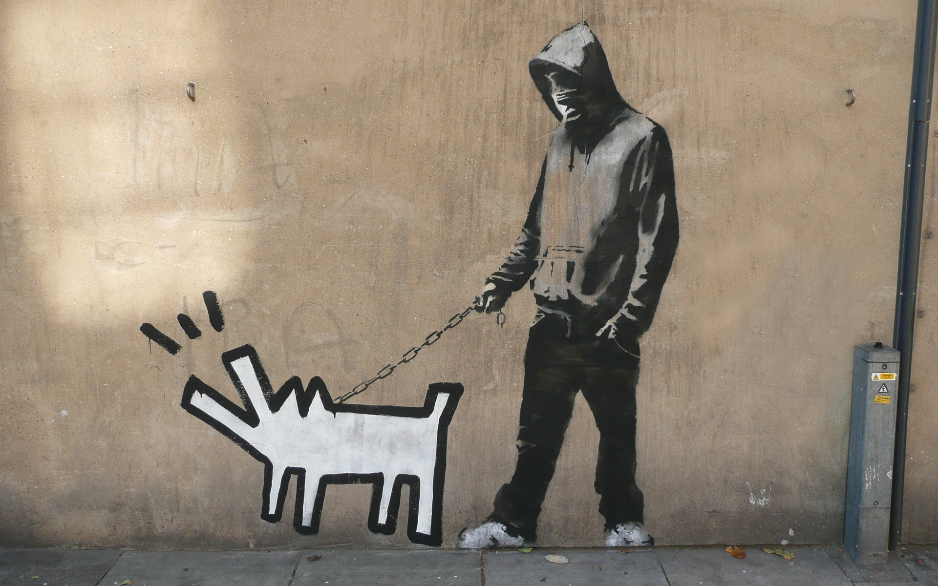 banksy street art 2 HD Wallpaper