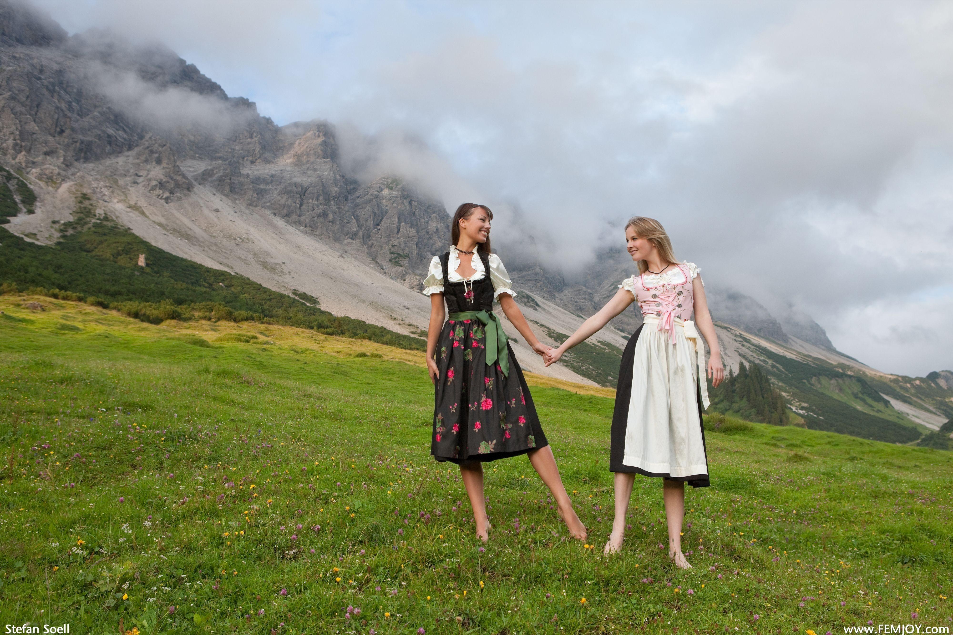 Barefoot bavaria scenic smiling