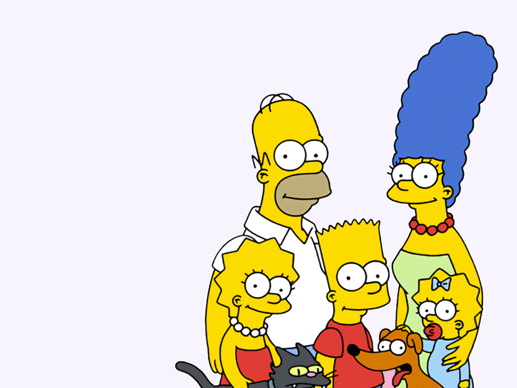 Bart lisa marge Maggie HD Wallpaper