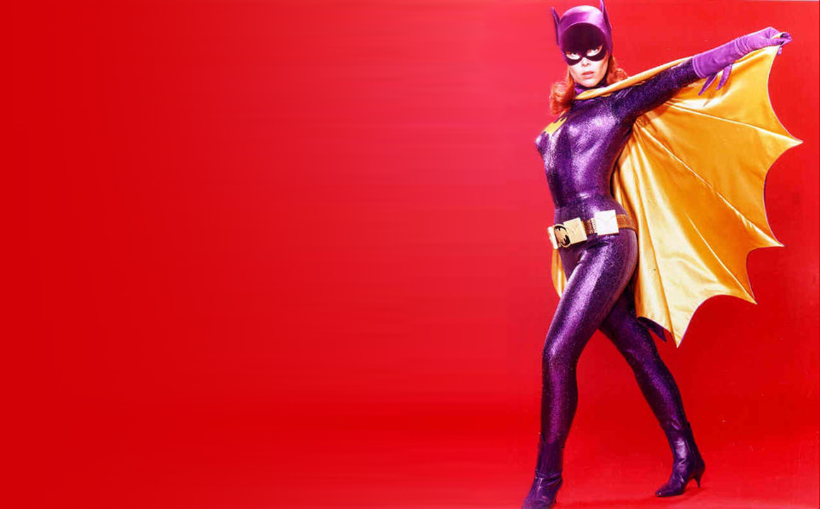 Batgirl Simple Background HD Wallpaper