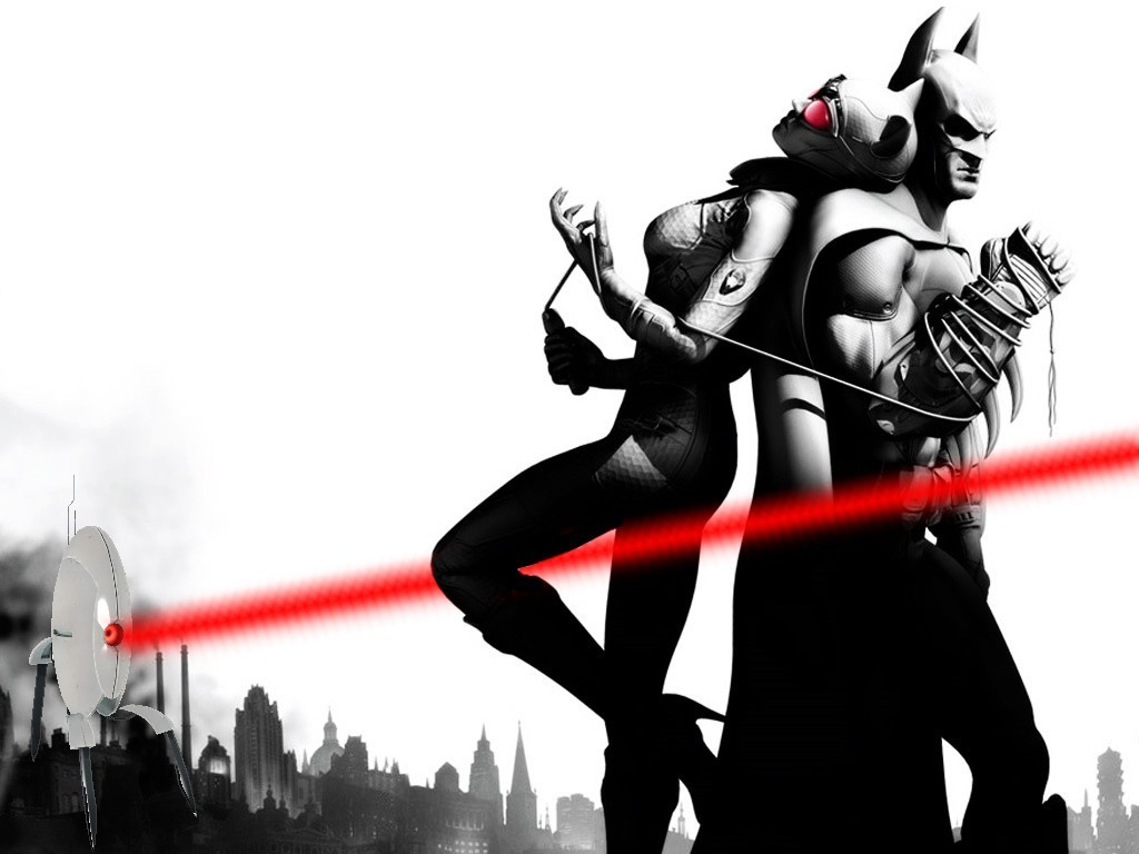 Batman Catwoman Gotham City HD Wallpaper