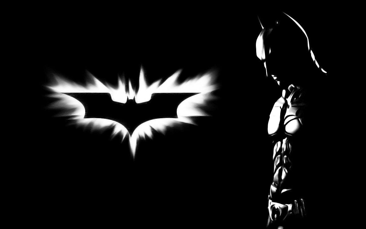 Batman dc comics monochrome HD Wallpaper