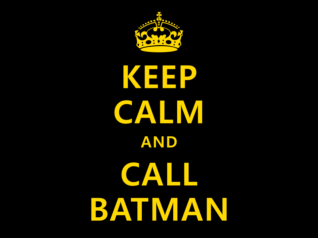 Batman parody Keep Calm HD Wallpaper
