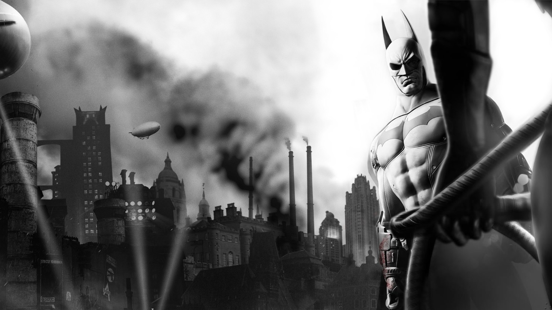 Batman video games monochrome HD Wallpaper