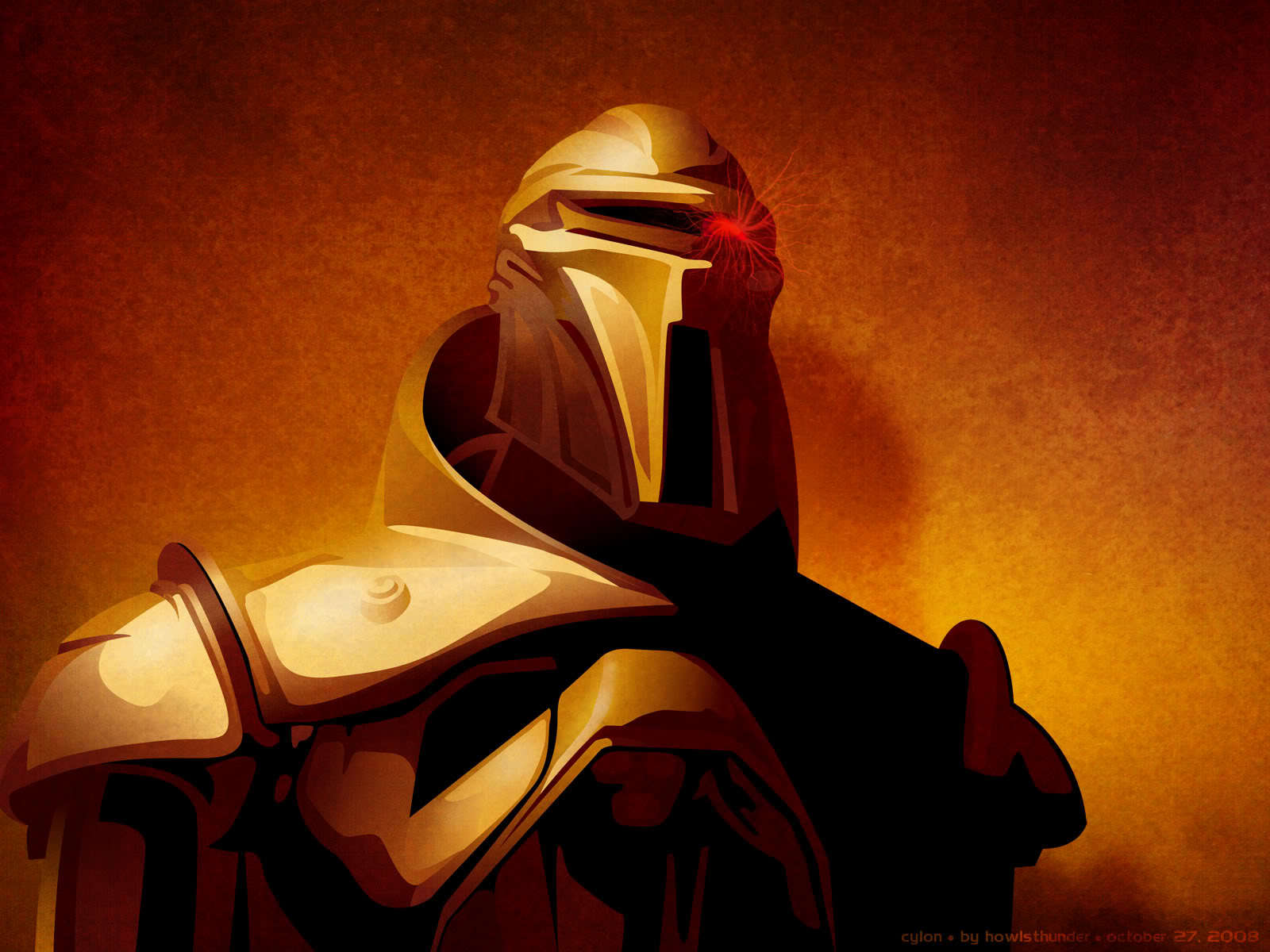 battlestar galactica cylon Centurion HD Wallpaper