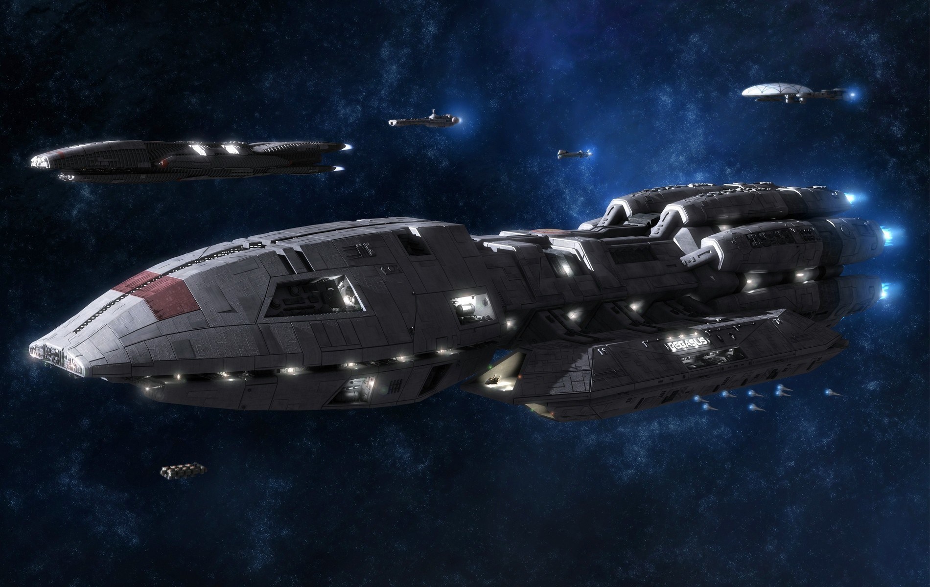 battlestar galactica Viper spaceships HD Wallpaper