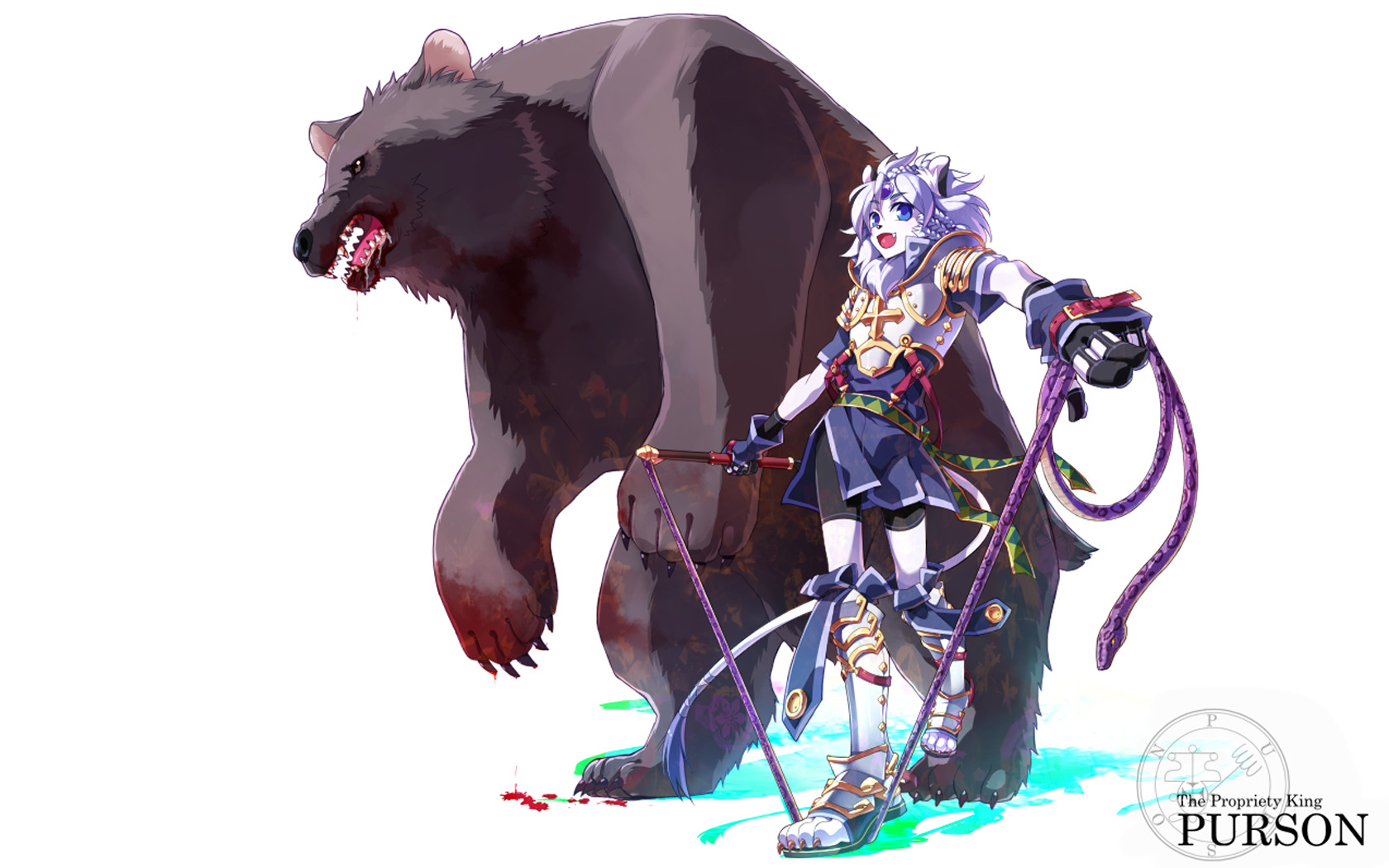Bears simple background Anime HD Wallpaper