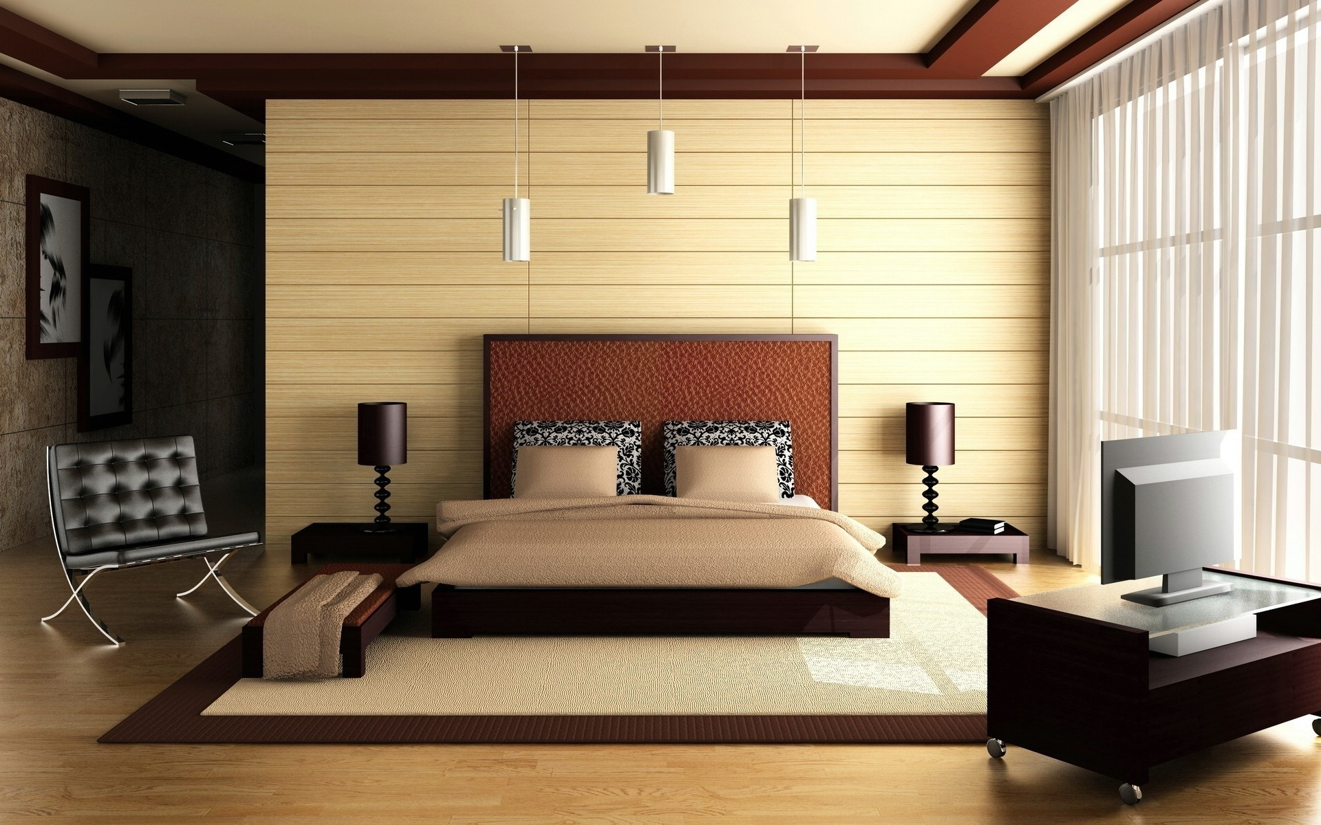 beds interior bedroom modern HD Wallpaper