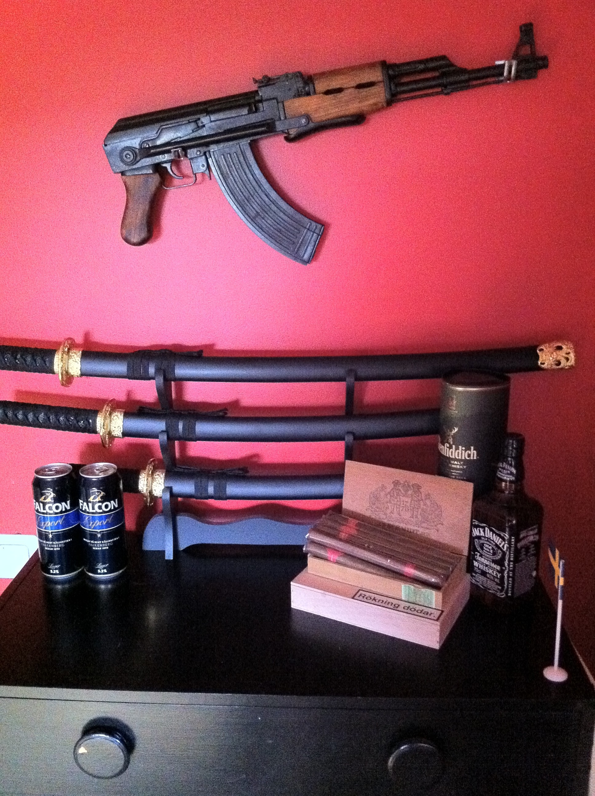 beers Rifles Guns Katana HD Wallpaper