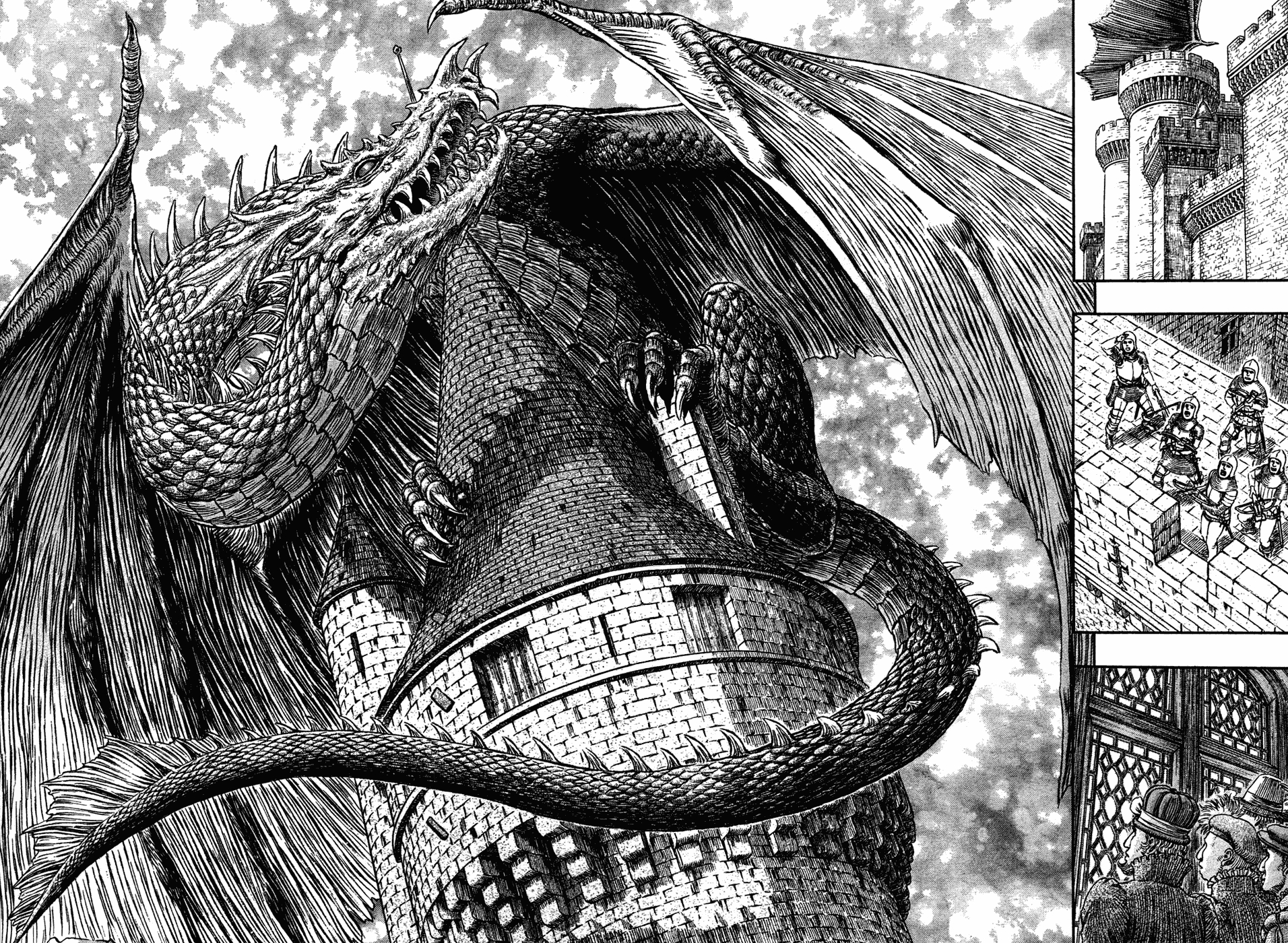 berserk Miura Style dragon HD Wallpaper
