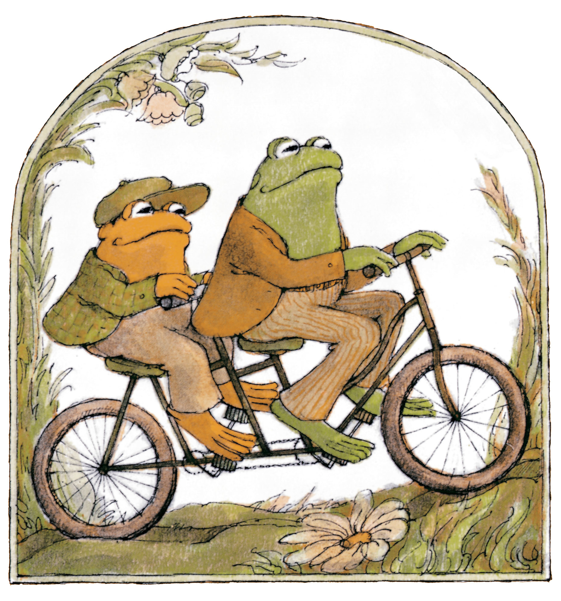 Bicycles illustrations Frogs fairytales