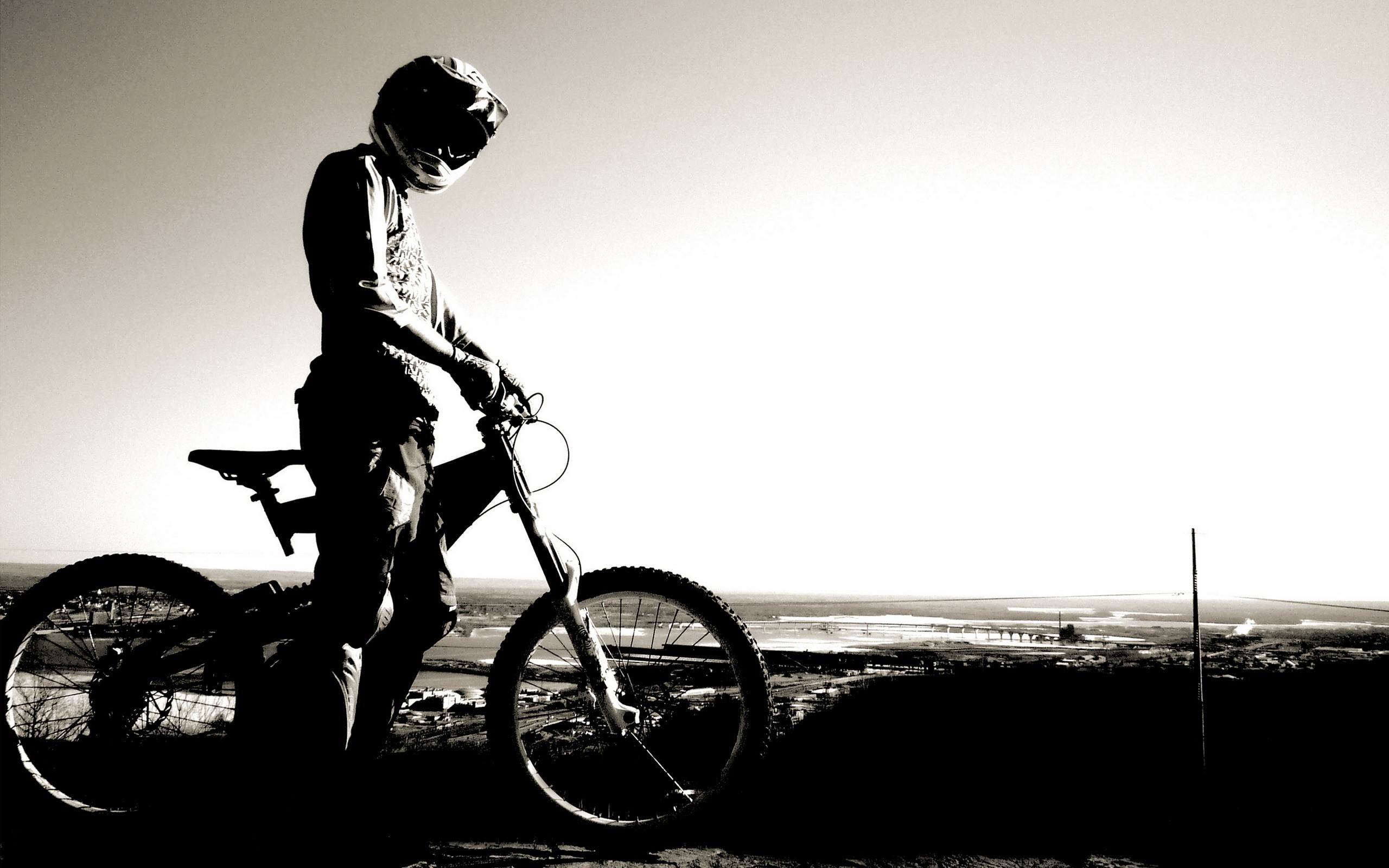 Bicycles monochrome HD Wallpaper