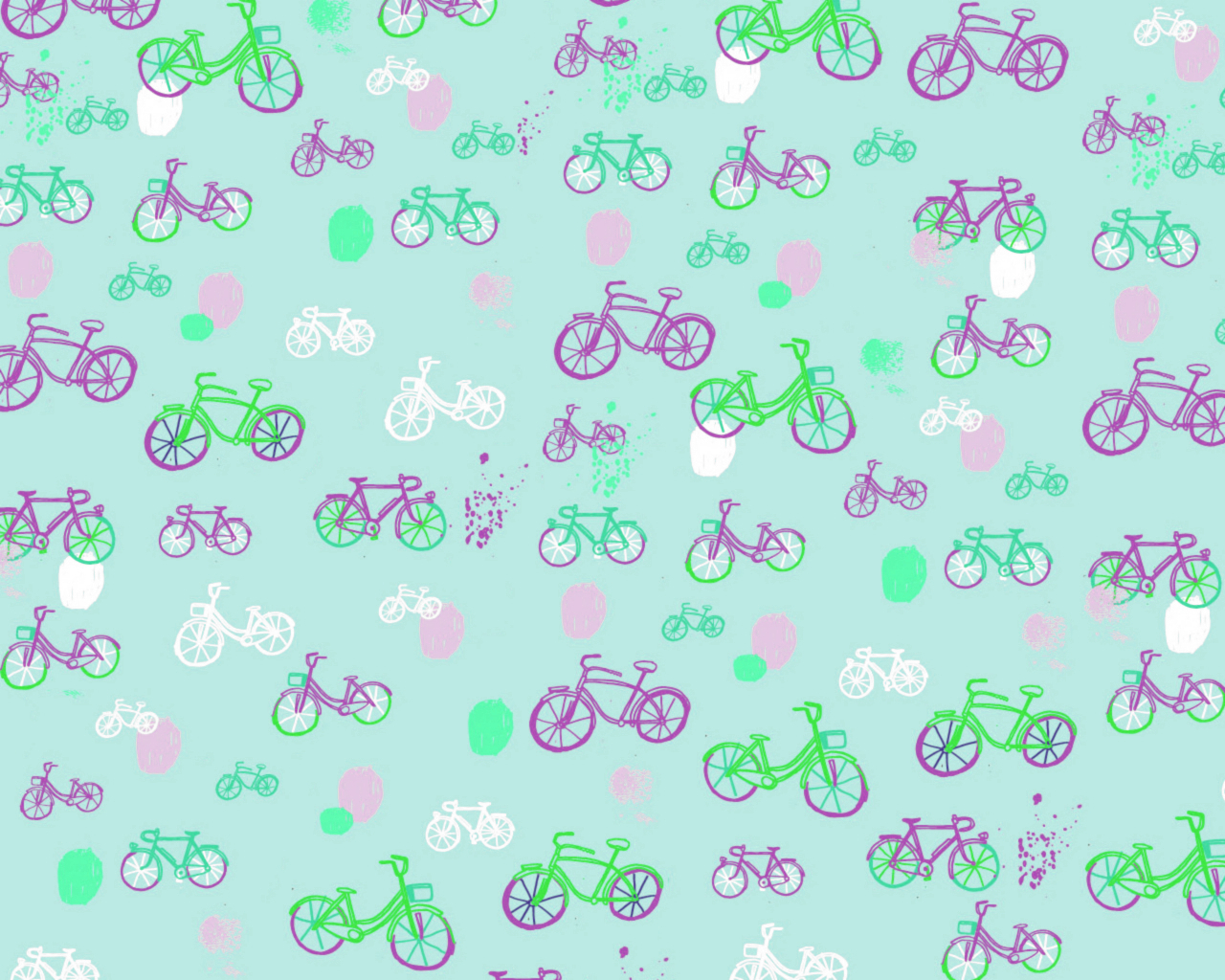 Bicycles shifted abstract HD Wallpaper
