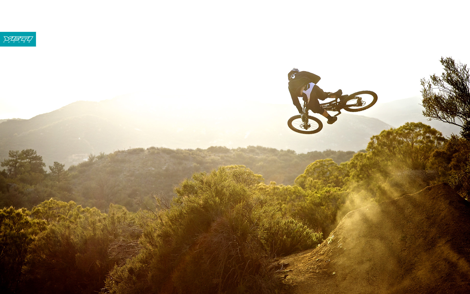 biker Bicycles Sports jumping HD Wallpaper