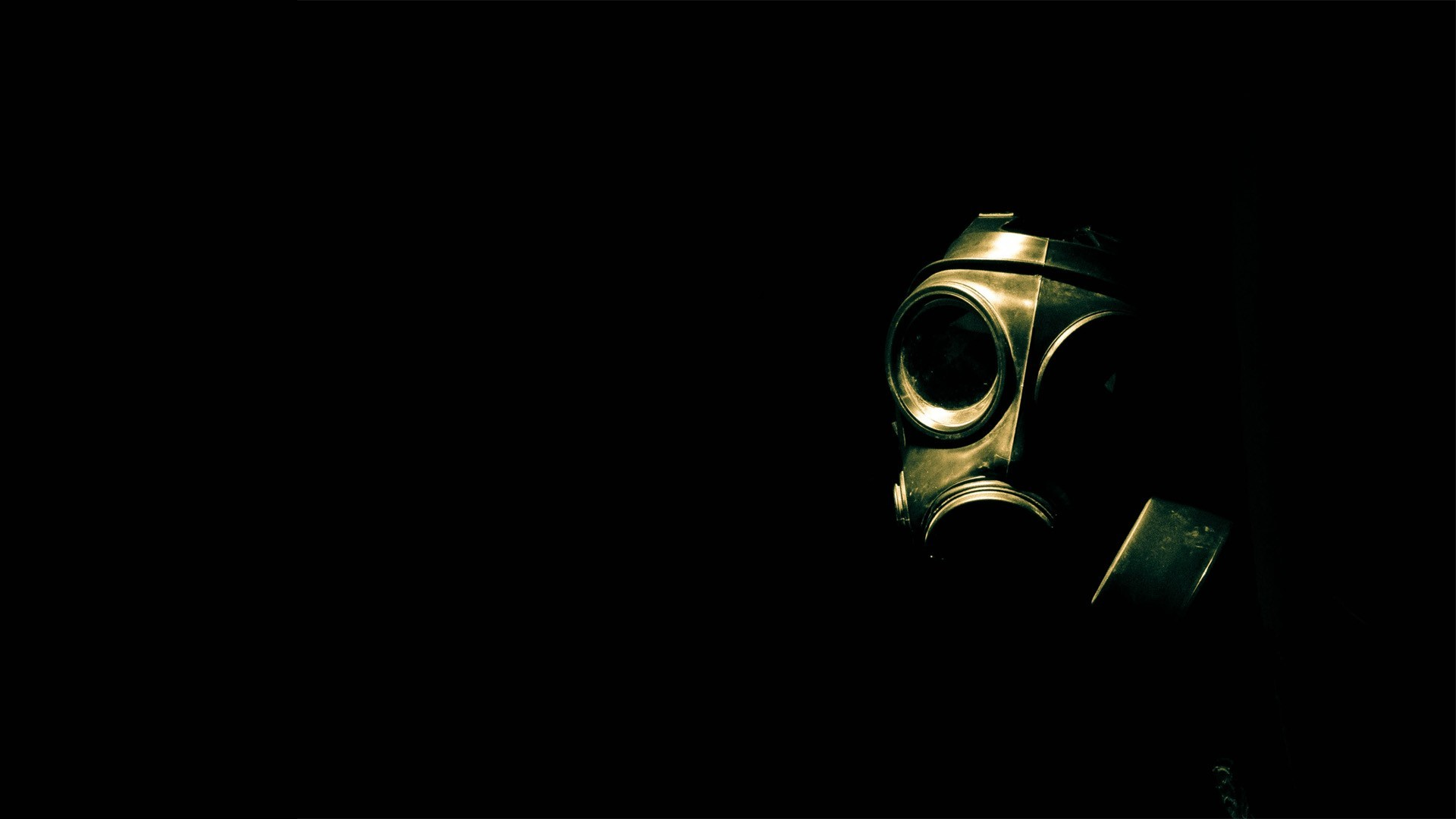 biohazard gas masks black HD Wallpaper