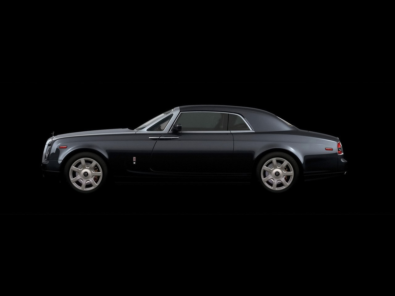 black 2006 Rolls Royce HD Wallpaper