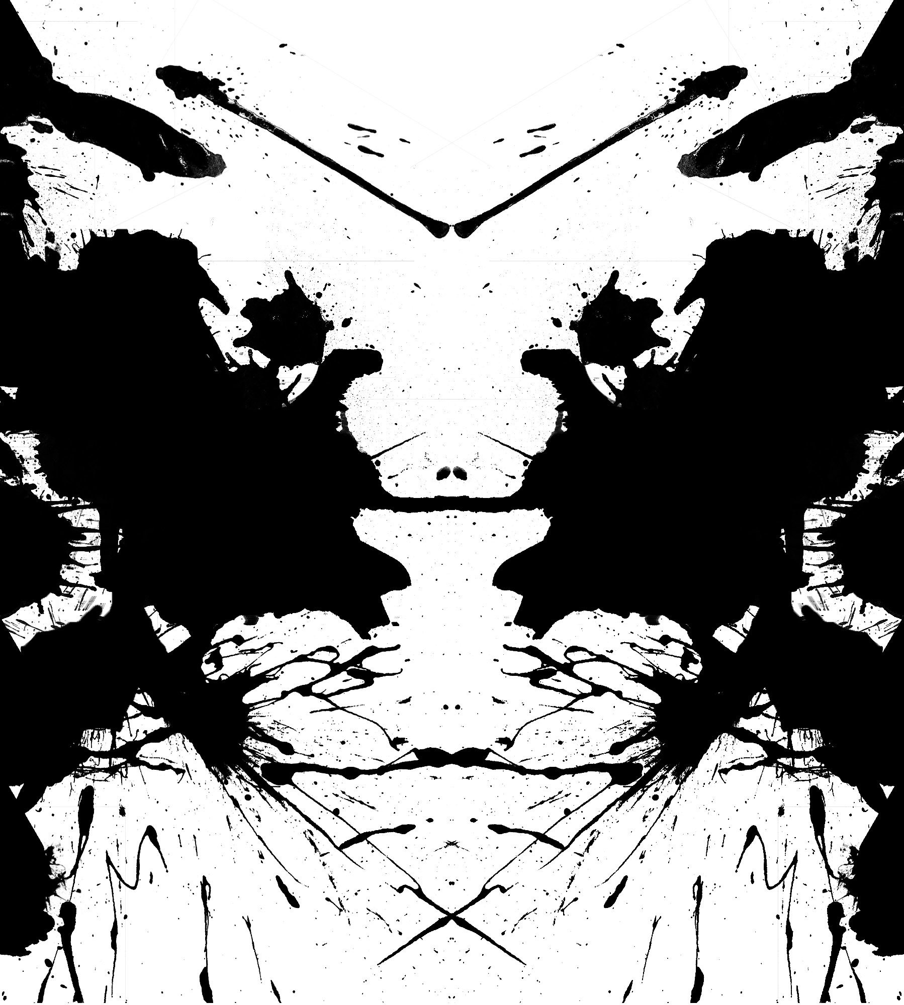 black and white Rorschach HD Wallpaper