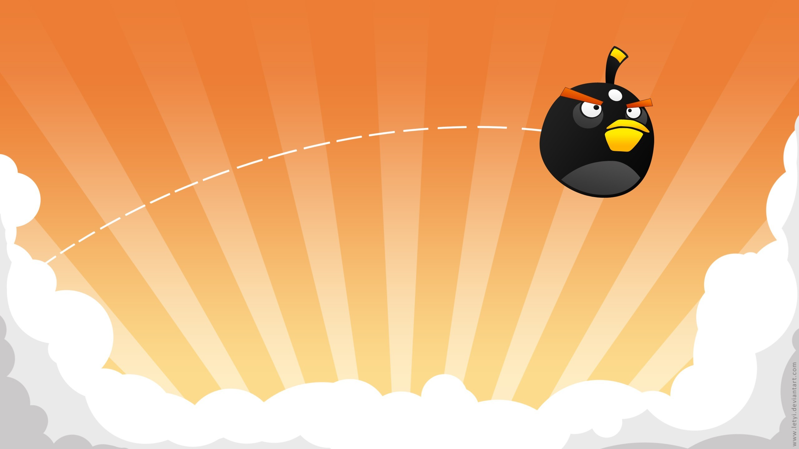 black angry birds HD Wallpaper