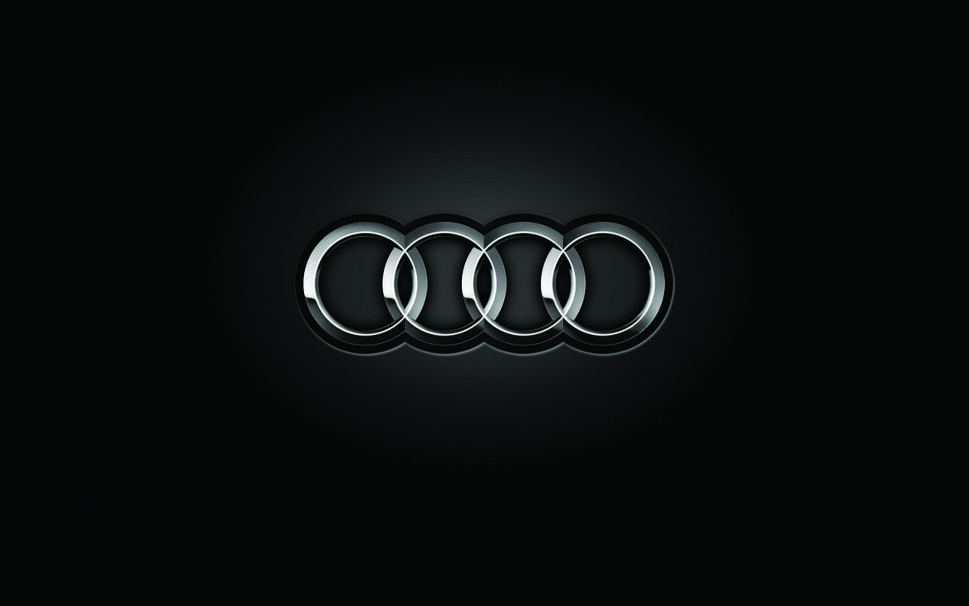 black Audi logos HD Wallpaper