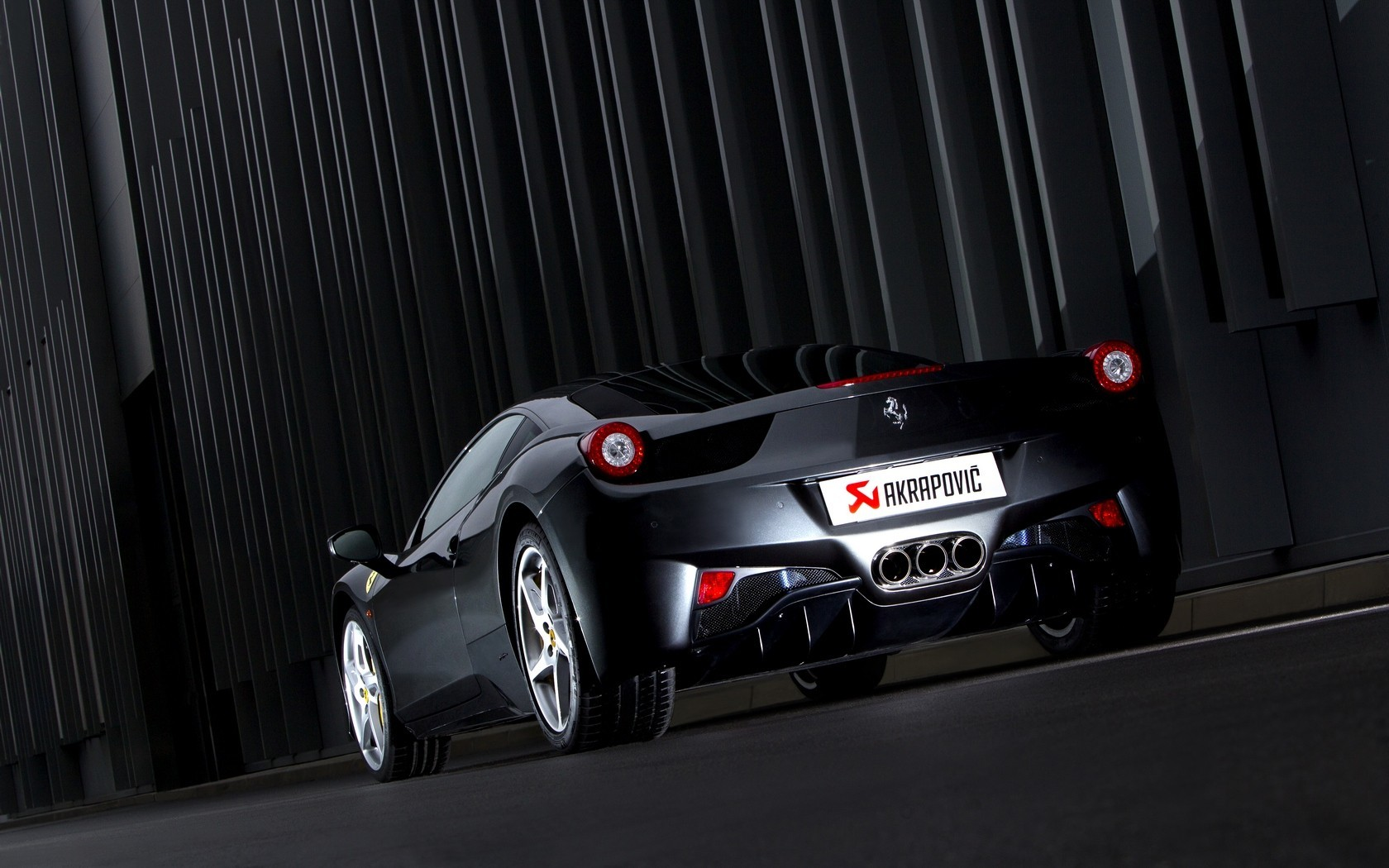 black cars ferrari 458 HD Wallpaper