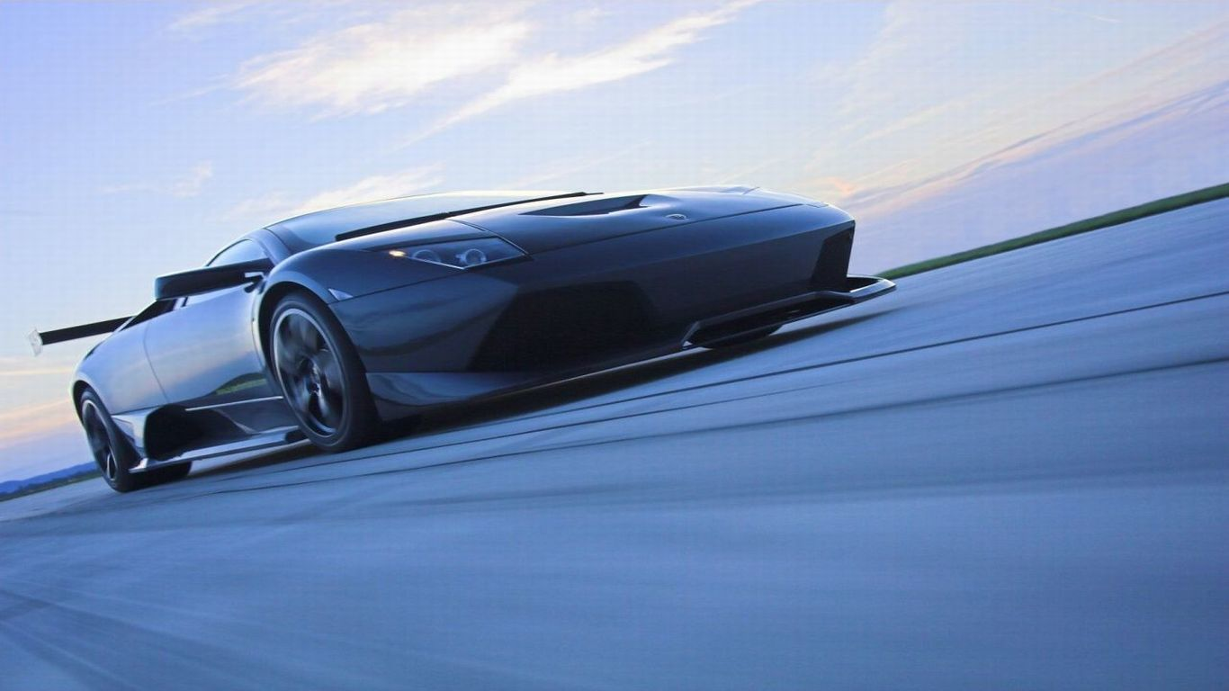 black cars Lamborghini vehicles HD Wallpaper