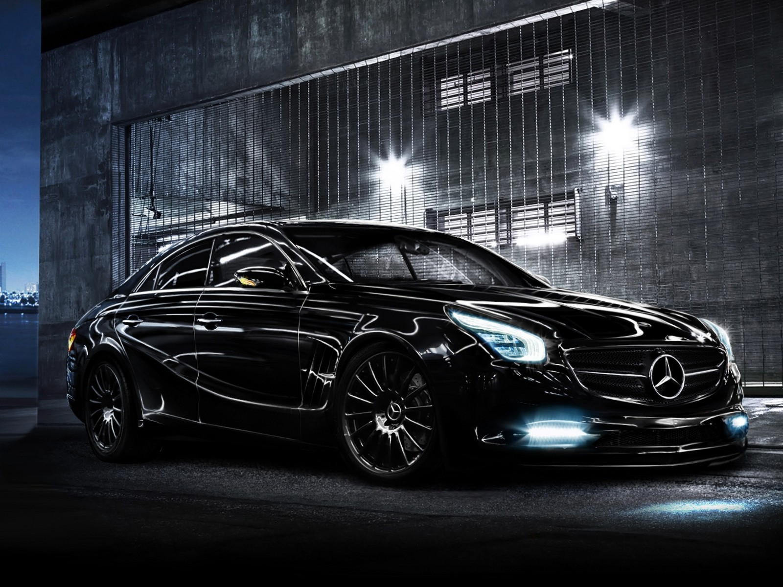 black cars Mercedes-Benz