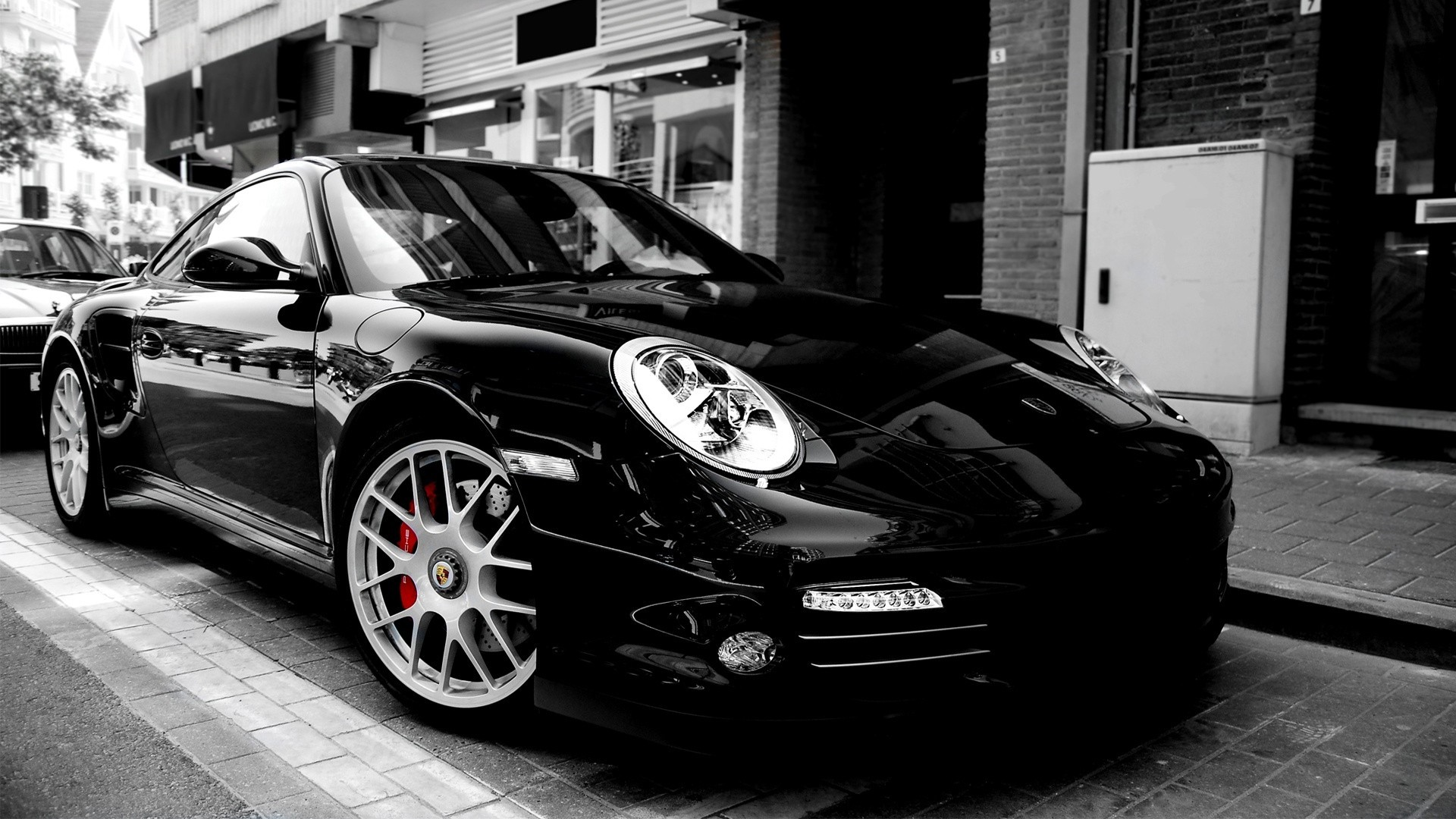 black cars Porsche cars HD Wallpaper