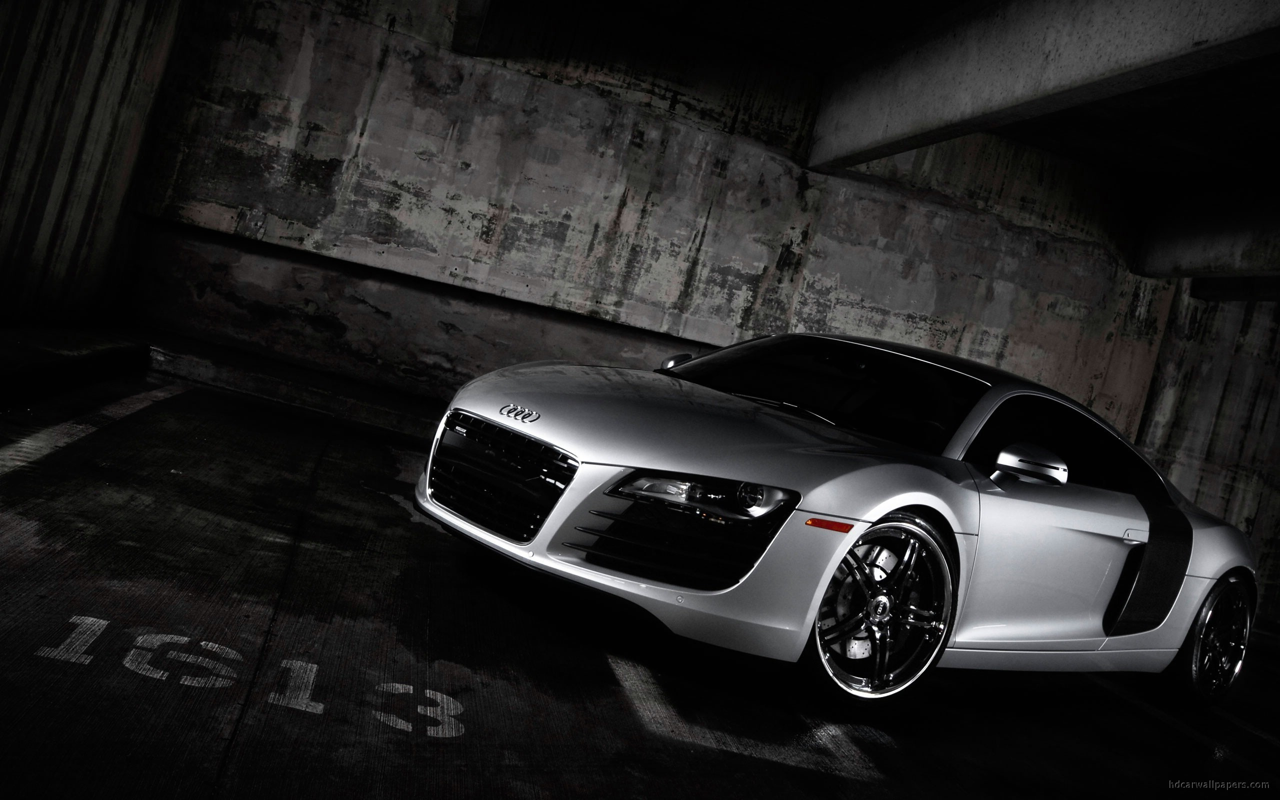 black cars wheels audi HD Wallpaper