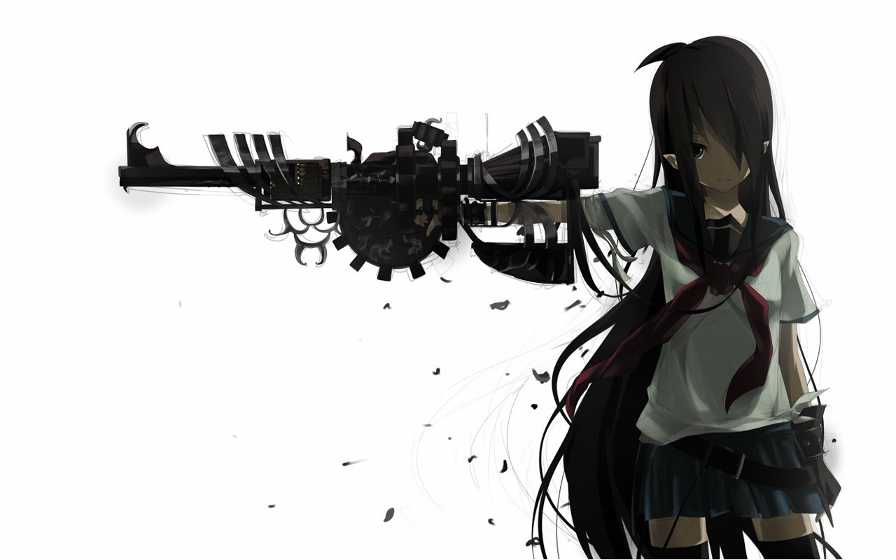 black Guns gloves white HD Wallpaper