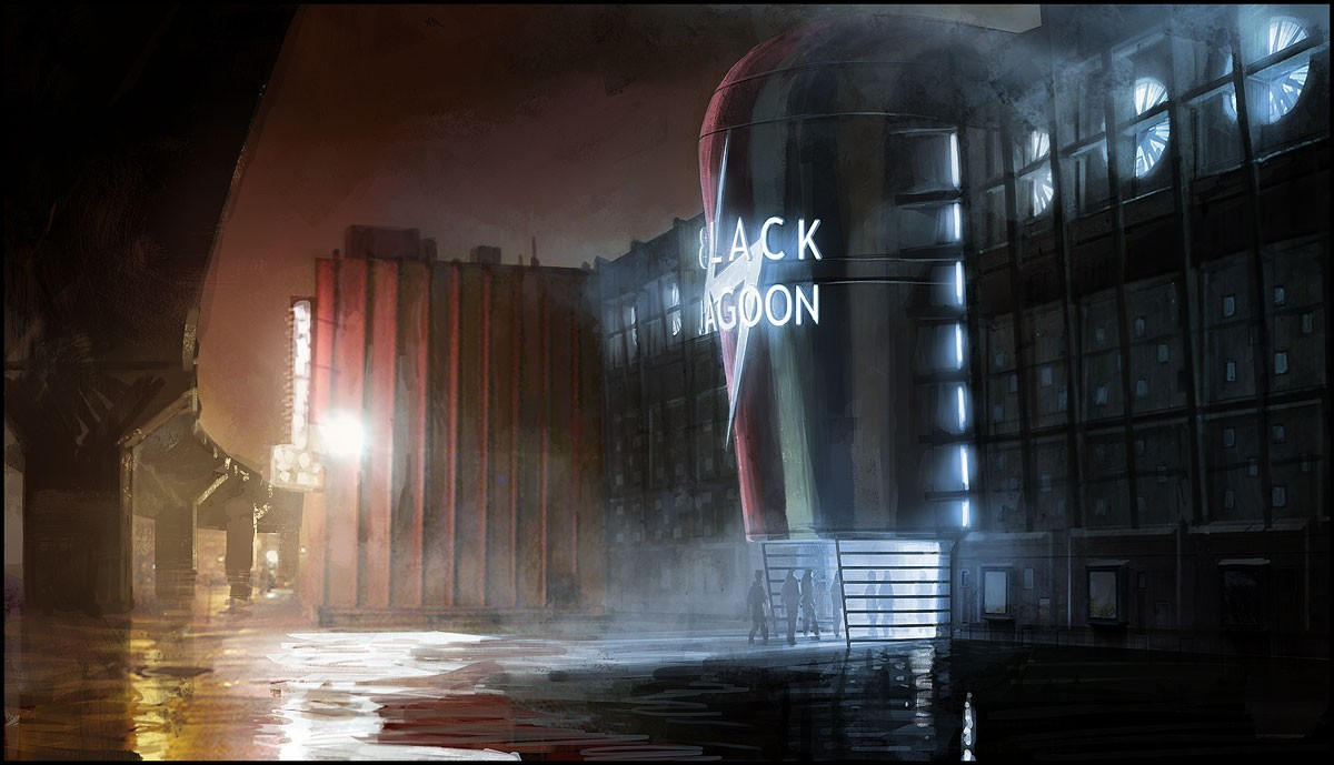 black lagoon heavy rain HD Wallpaper