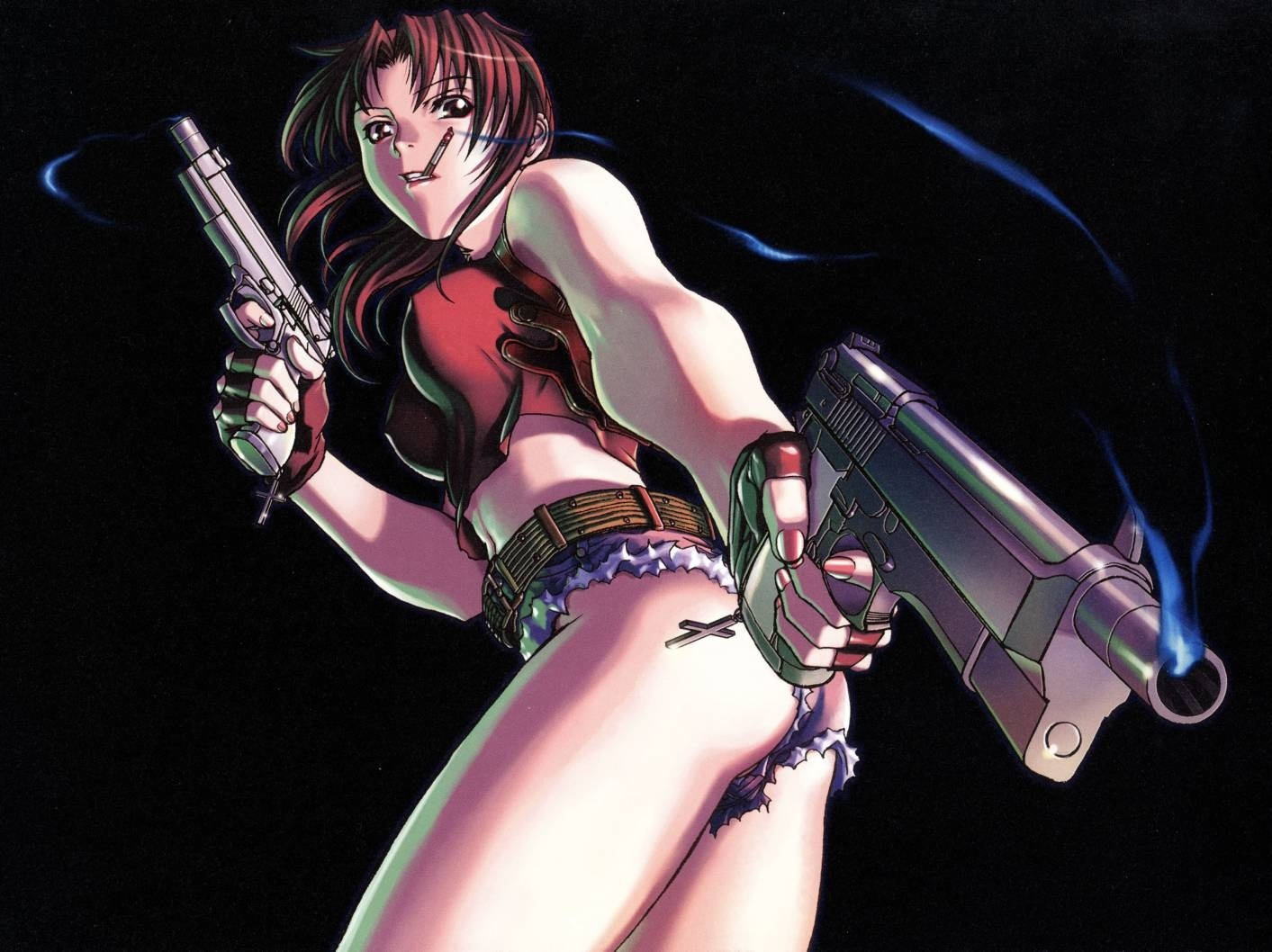 black lagoon Revy low-angle HD Wallpaper