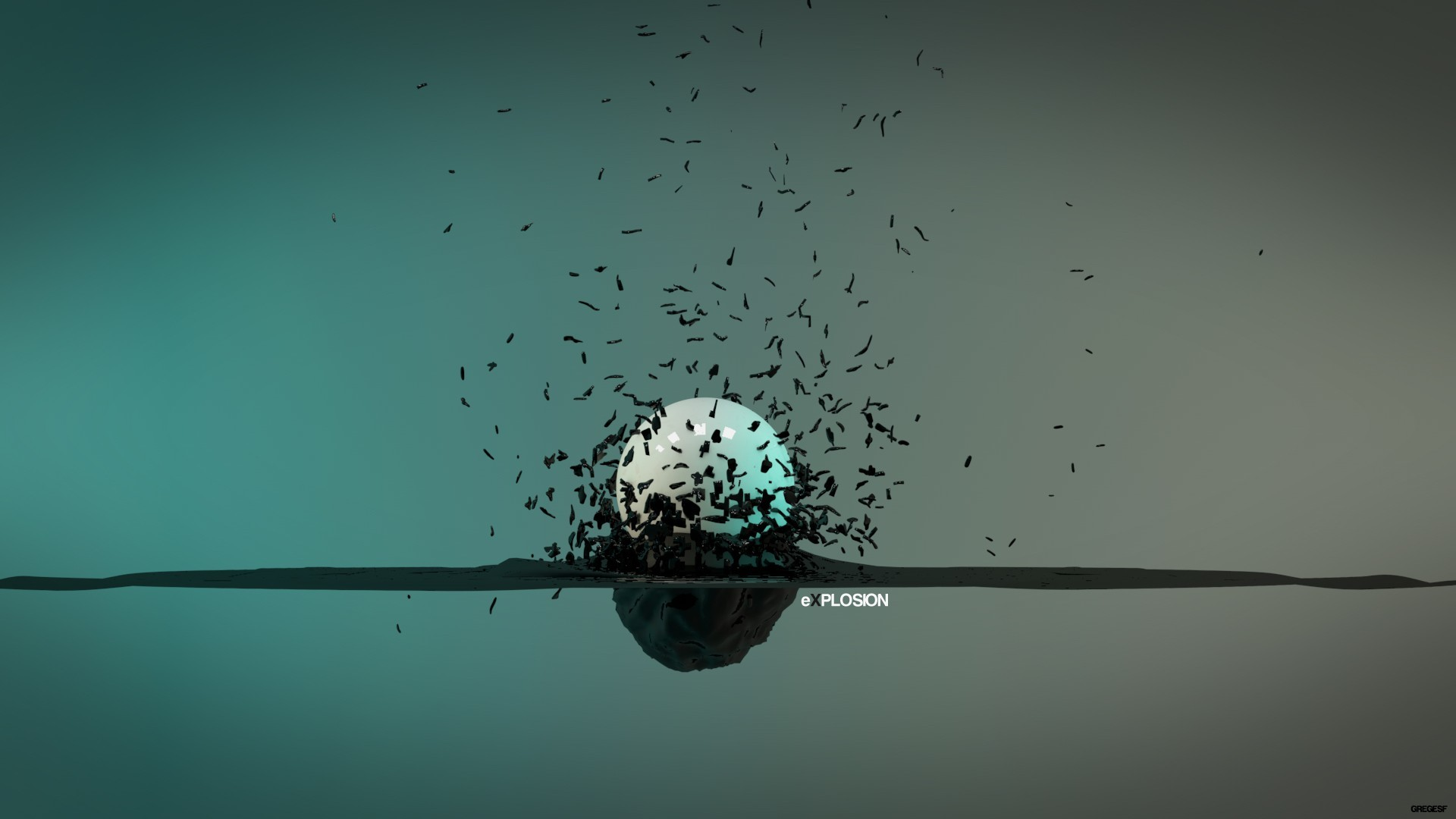 black minimalistic white explosions HD Wallpaper