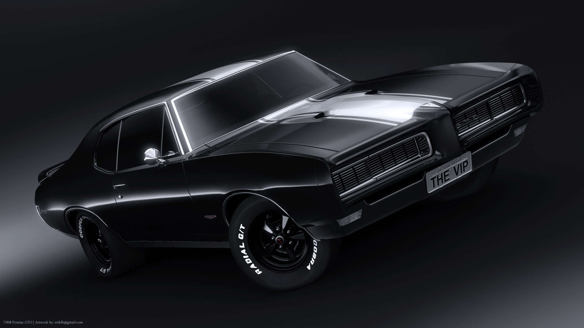 black Pontiac pontiac gto HD Wallpaper
