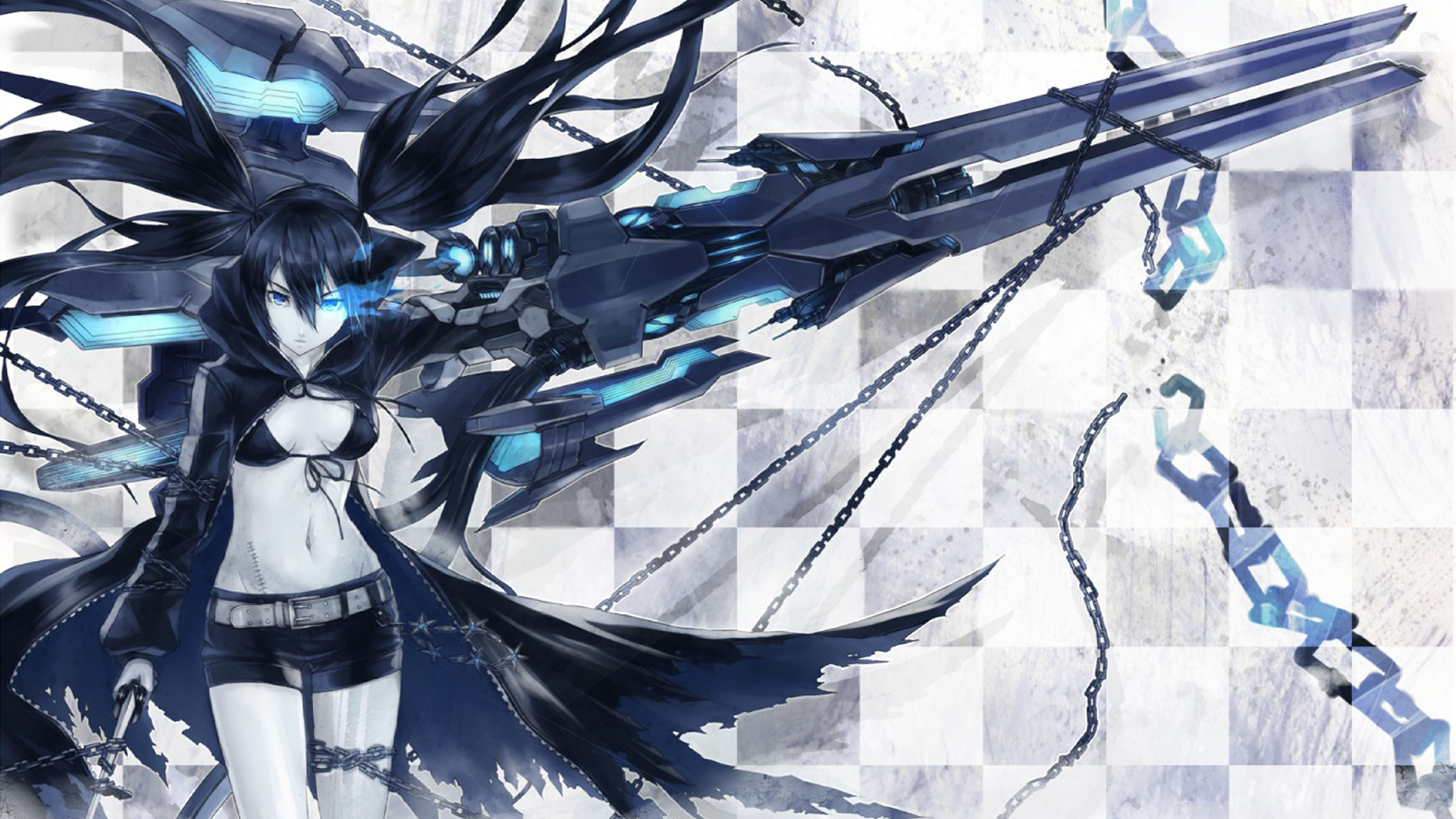 black rock shooter blue HD Wallpaper