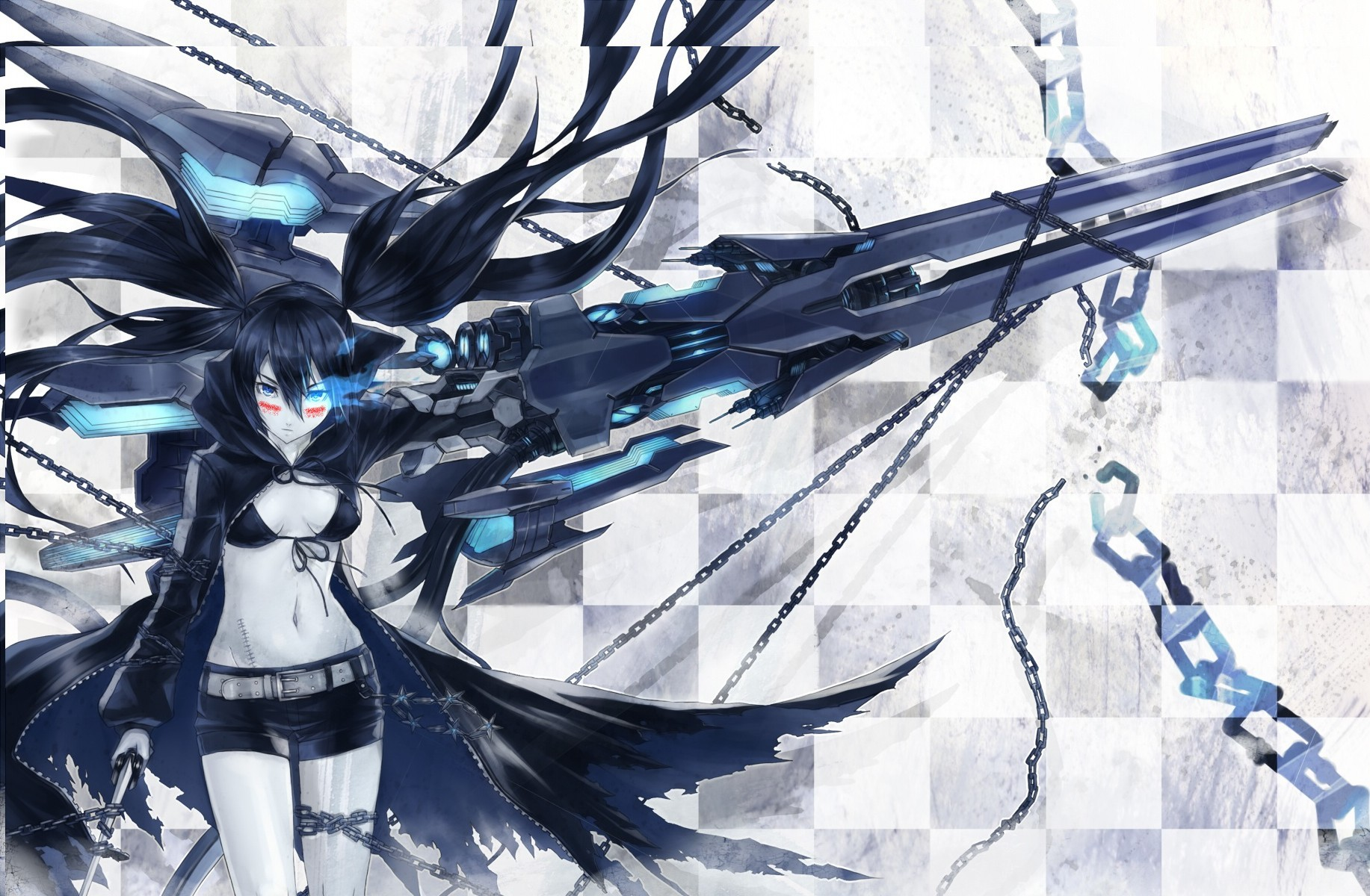 black rock shooter Nidy-2D HD Wallpaper
