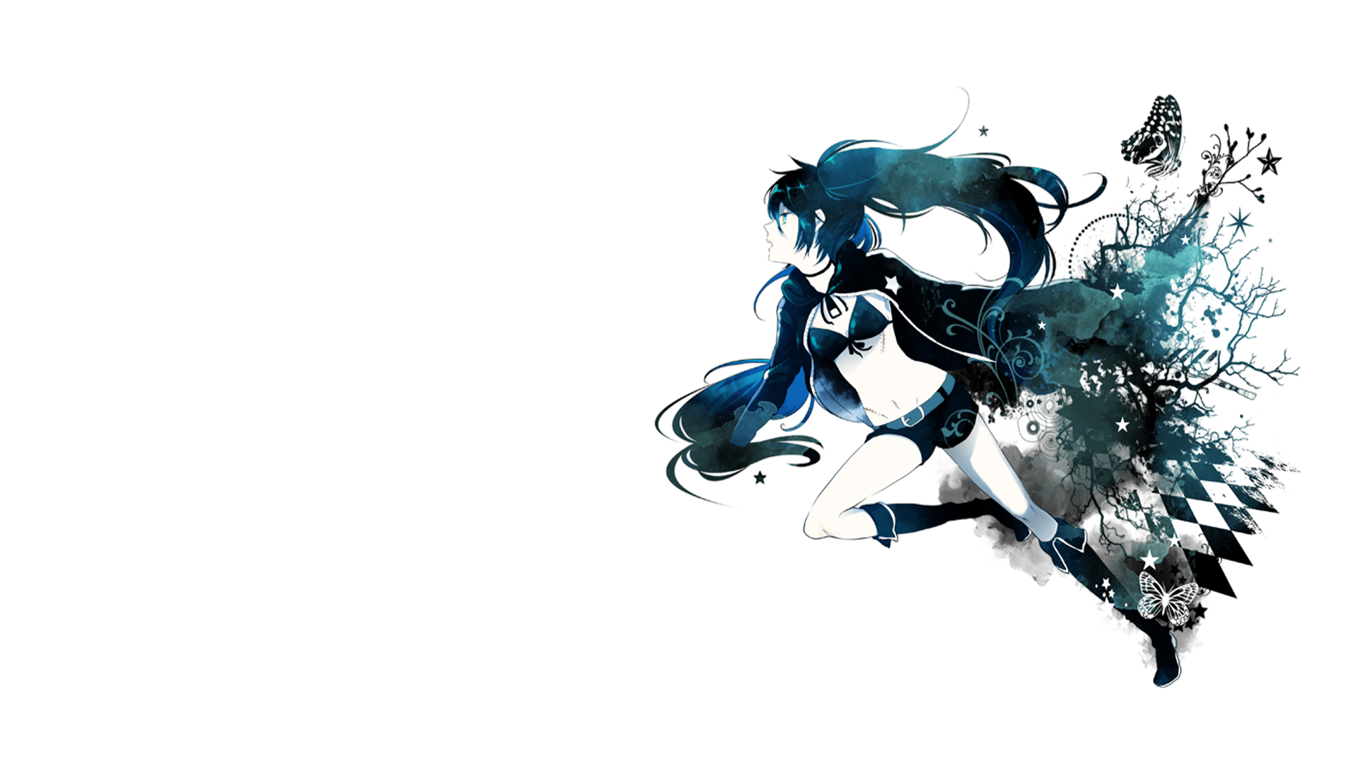 black rock Shooter simple HD Wallpaper