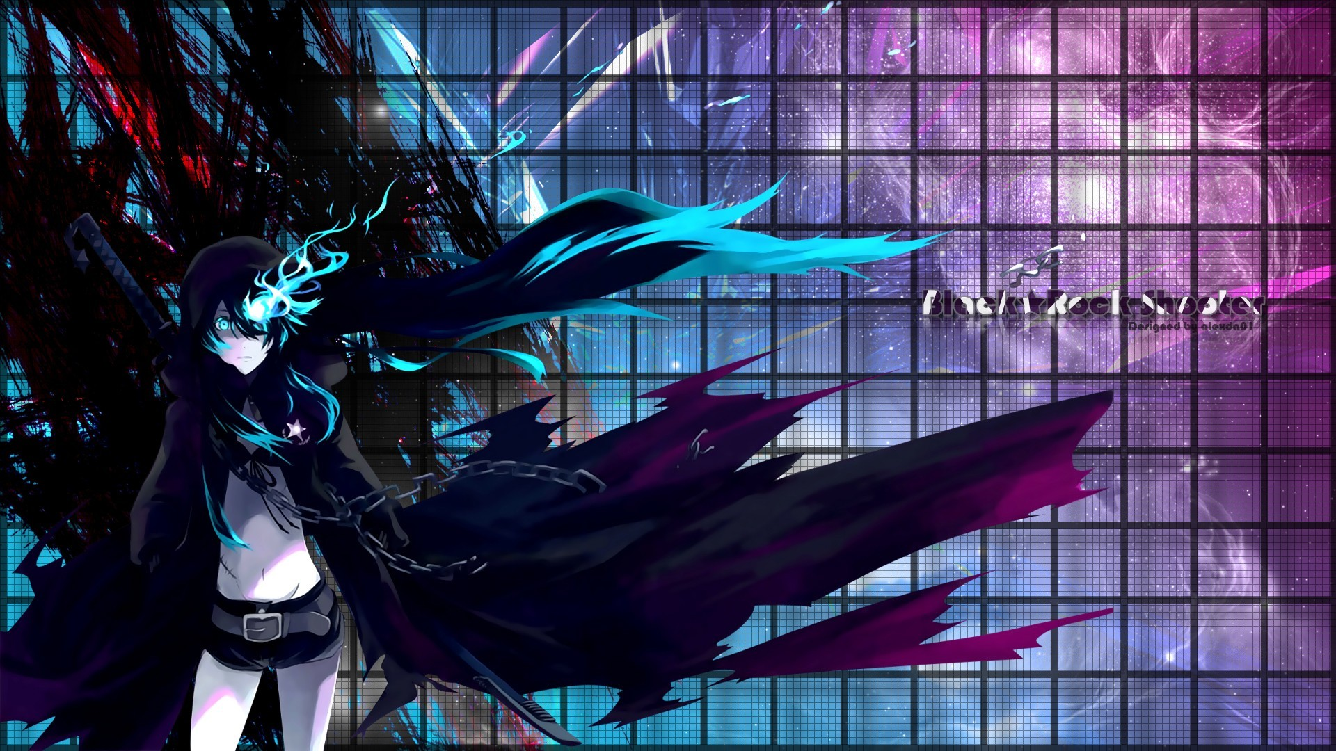 black rock shooter text HD Wallpaper