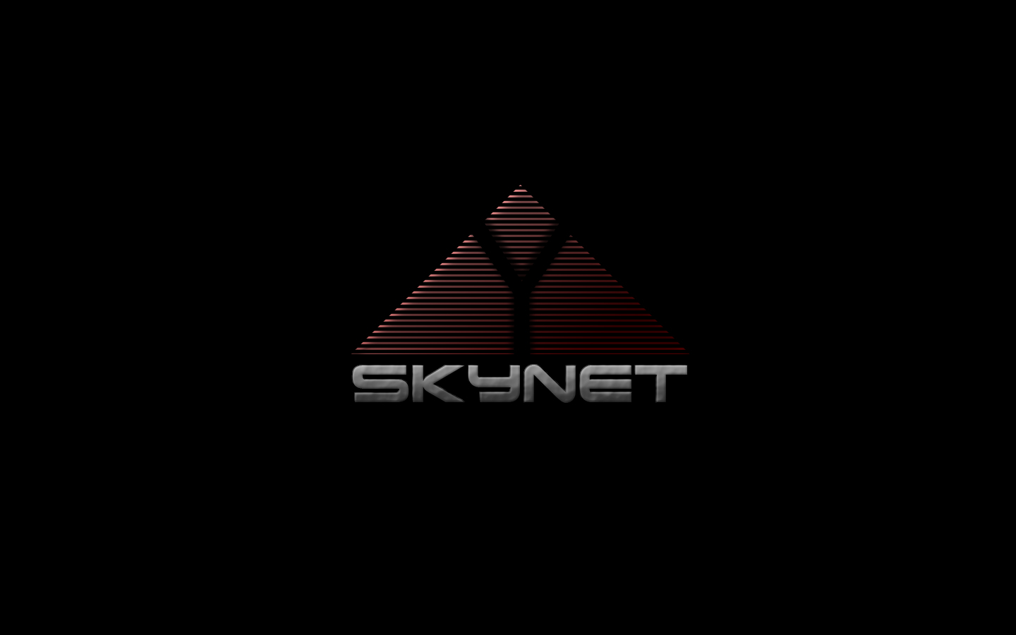 black terminator minimalistic SkyNet HD Wallpaper