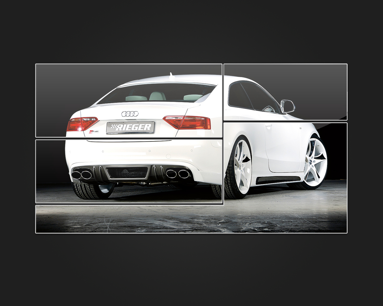 black white Audi cars