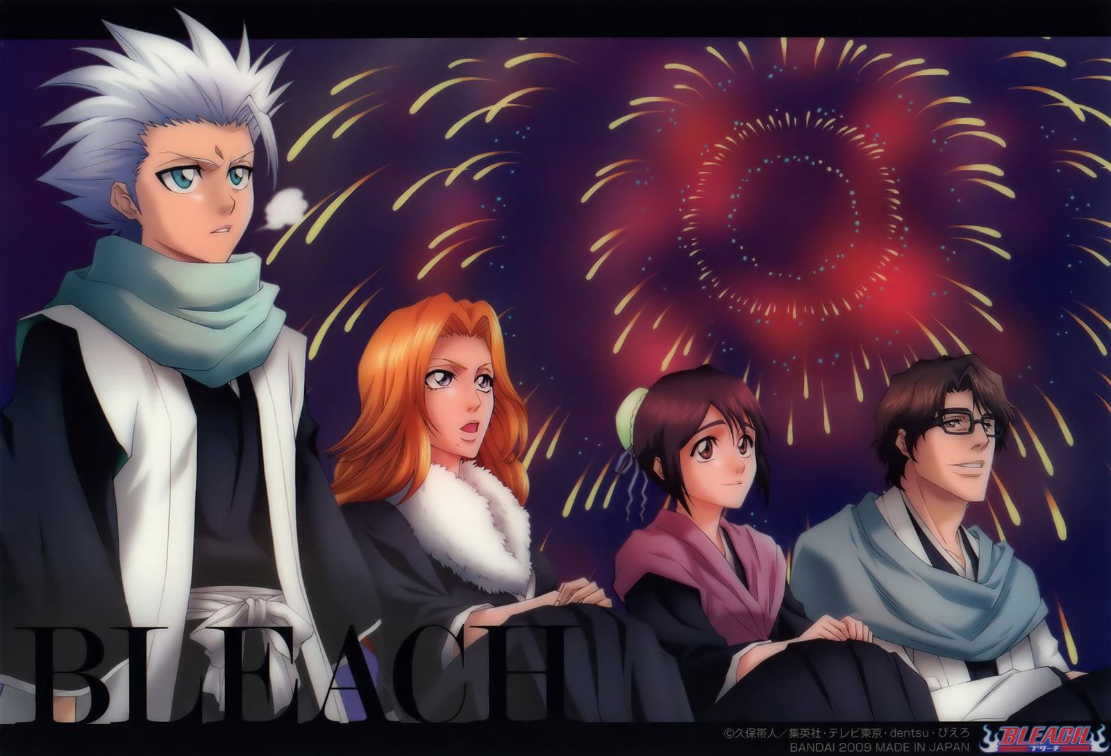 bleach fireworks Matsumoto rangiku HD Wallpaper