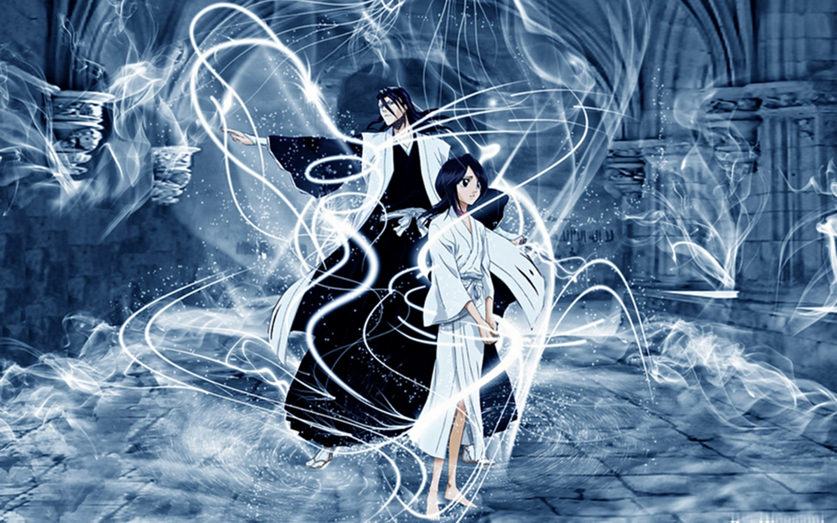 bleach Kuchiki Byakuya rukia HD Wallpaper