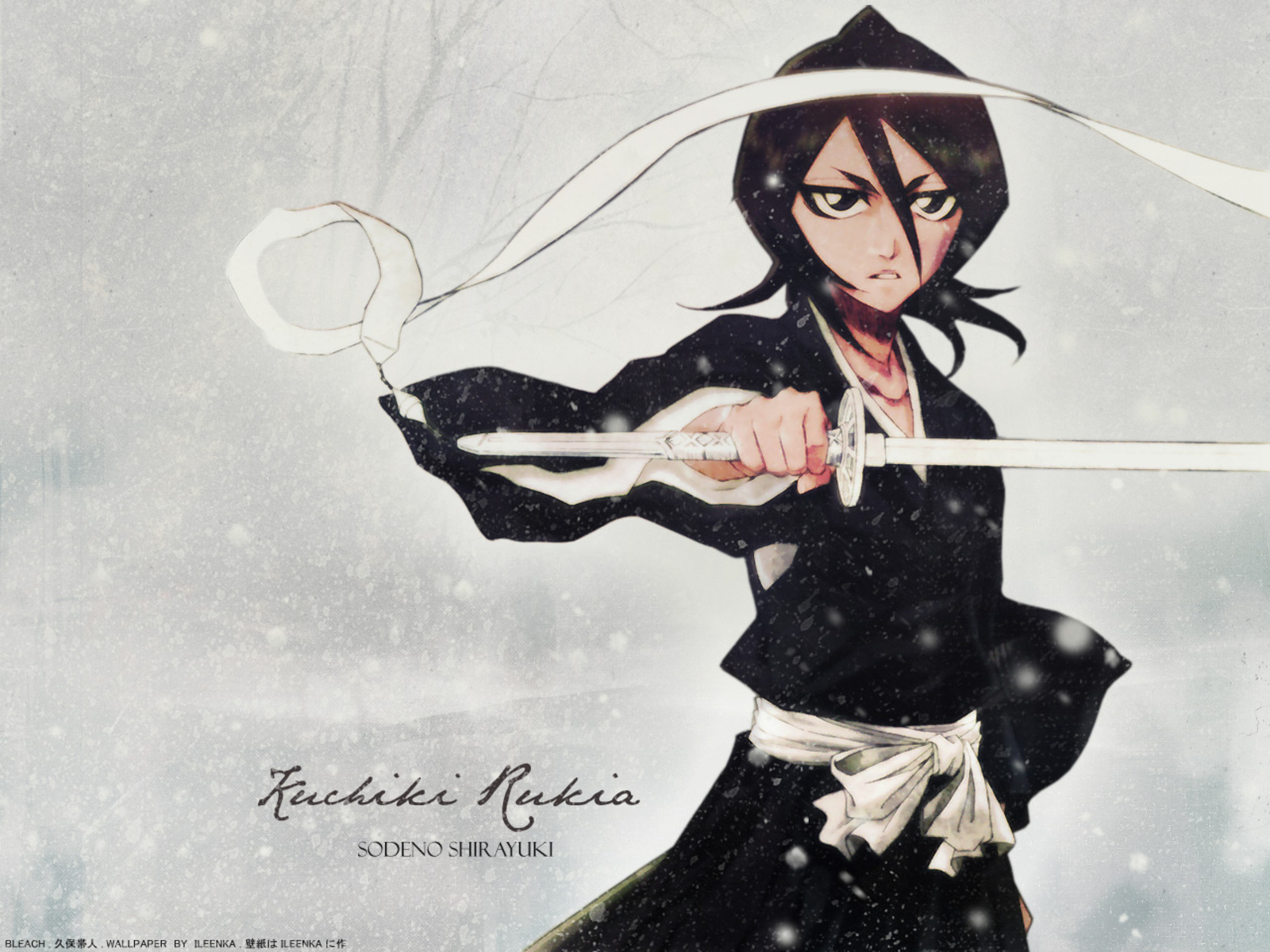 bleach Kuchiki rukia zanpakuto HD Wallpaper